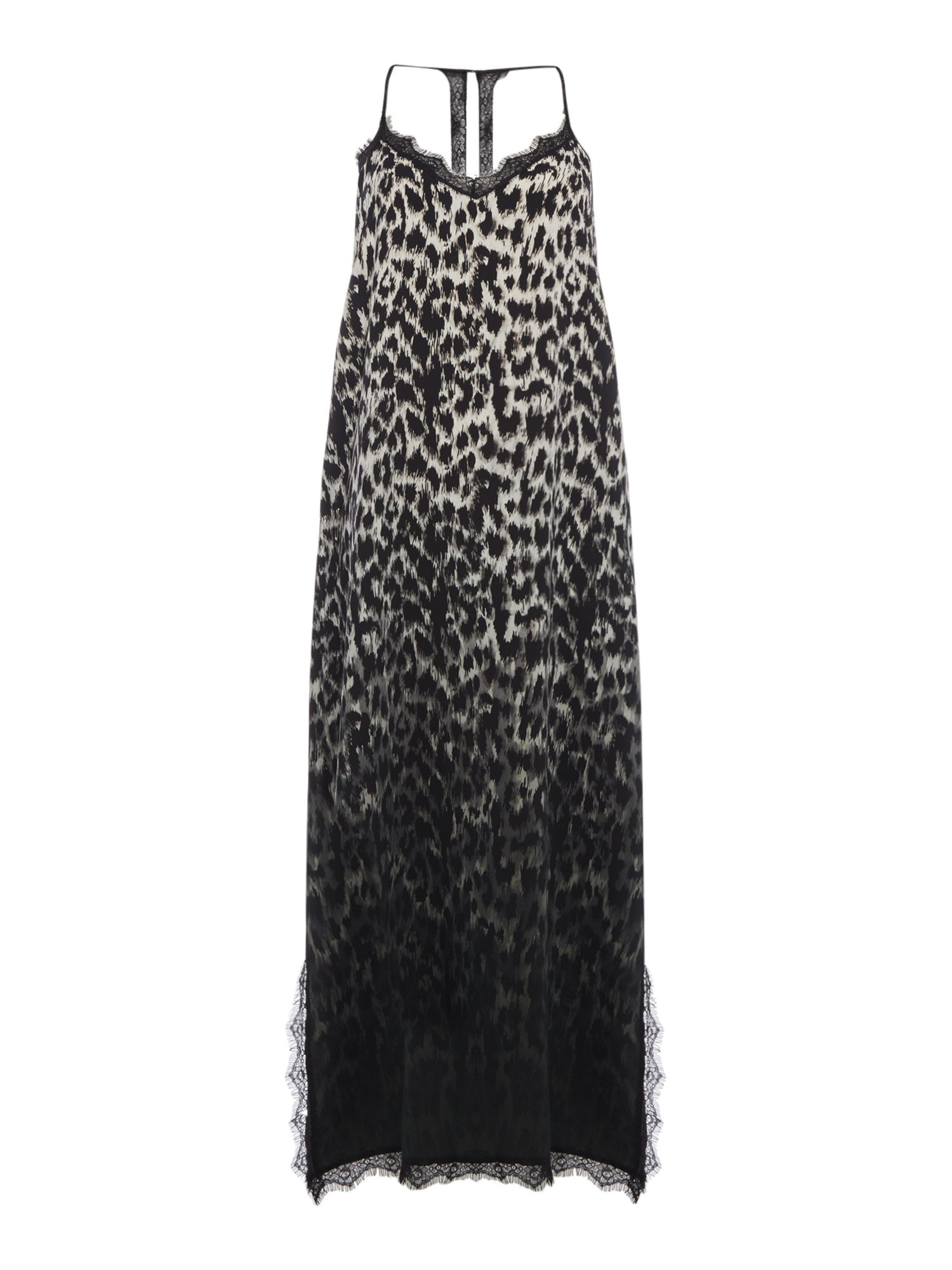 Label Lab Leopard Print Slip Dress, Multi-Coloured
