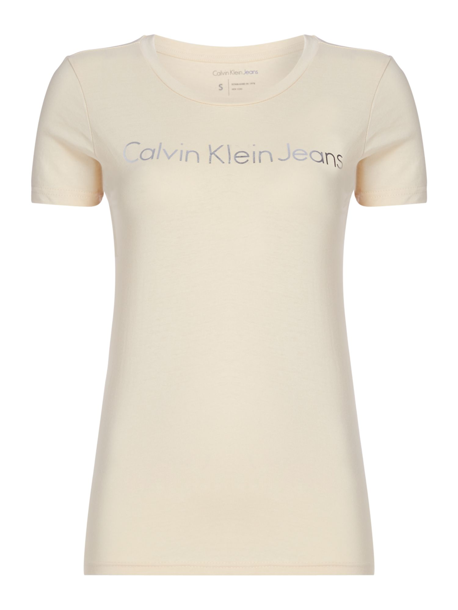 Calvin Klein Short Sleeves Logo T-shirt, Lemon