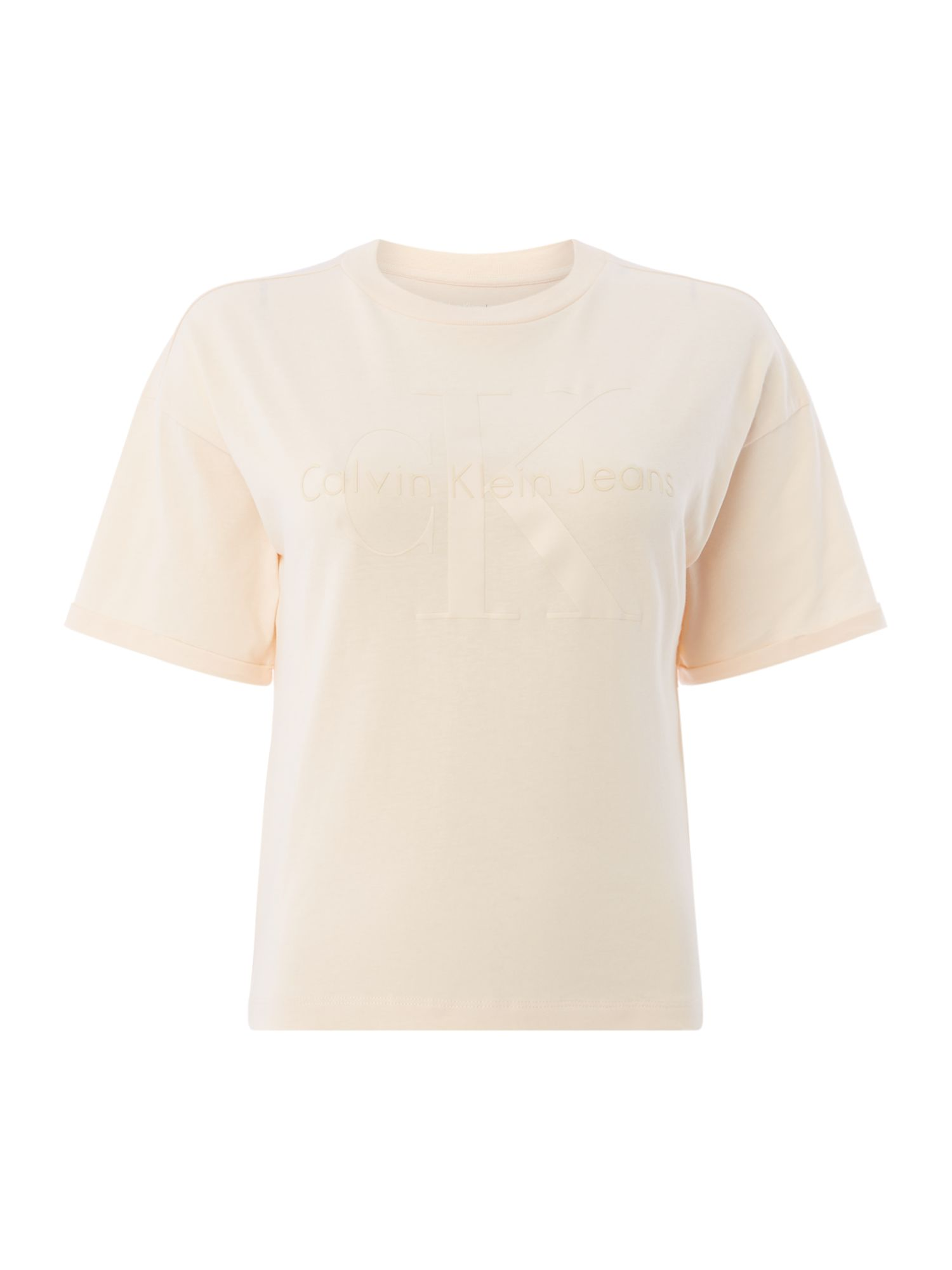 Calvin Klein Short Sleeves CK Logo T Shirt, Yellow