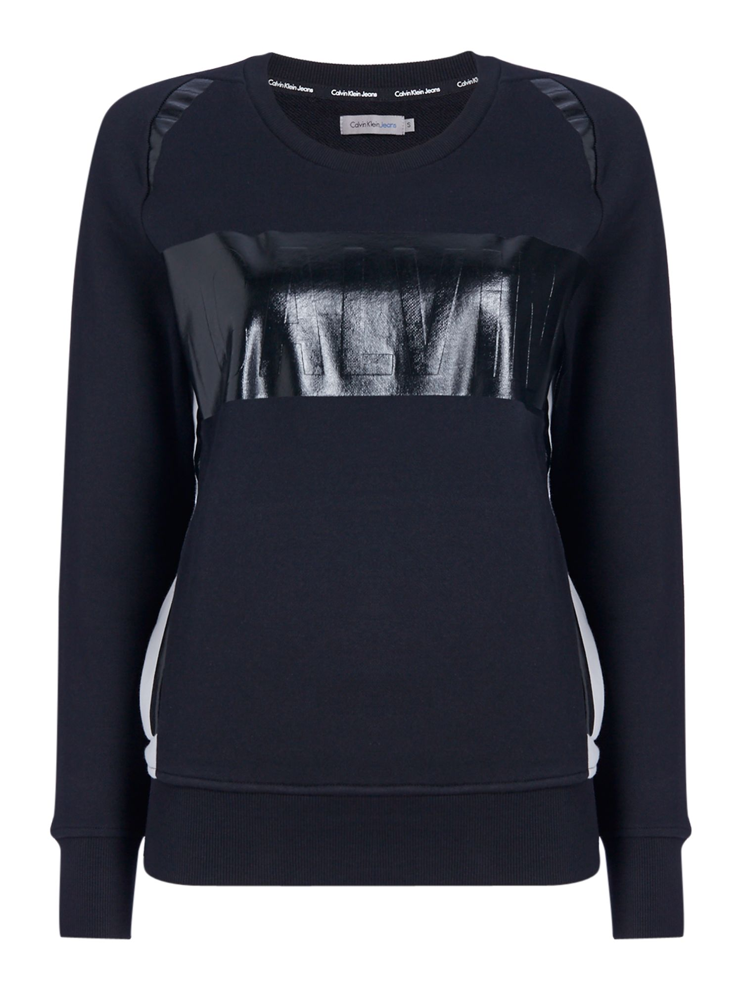 Calvin Klein Long sleeves crew neck calvin logo sweater, Black