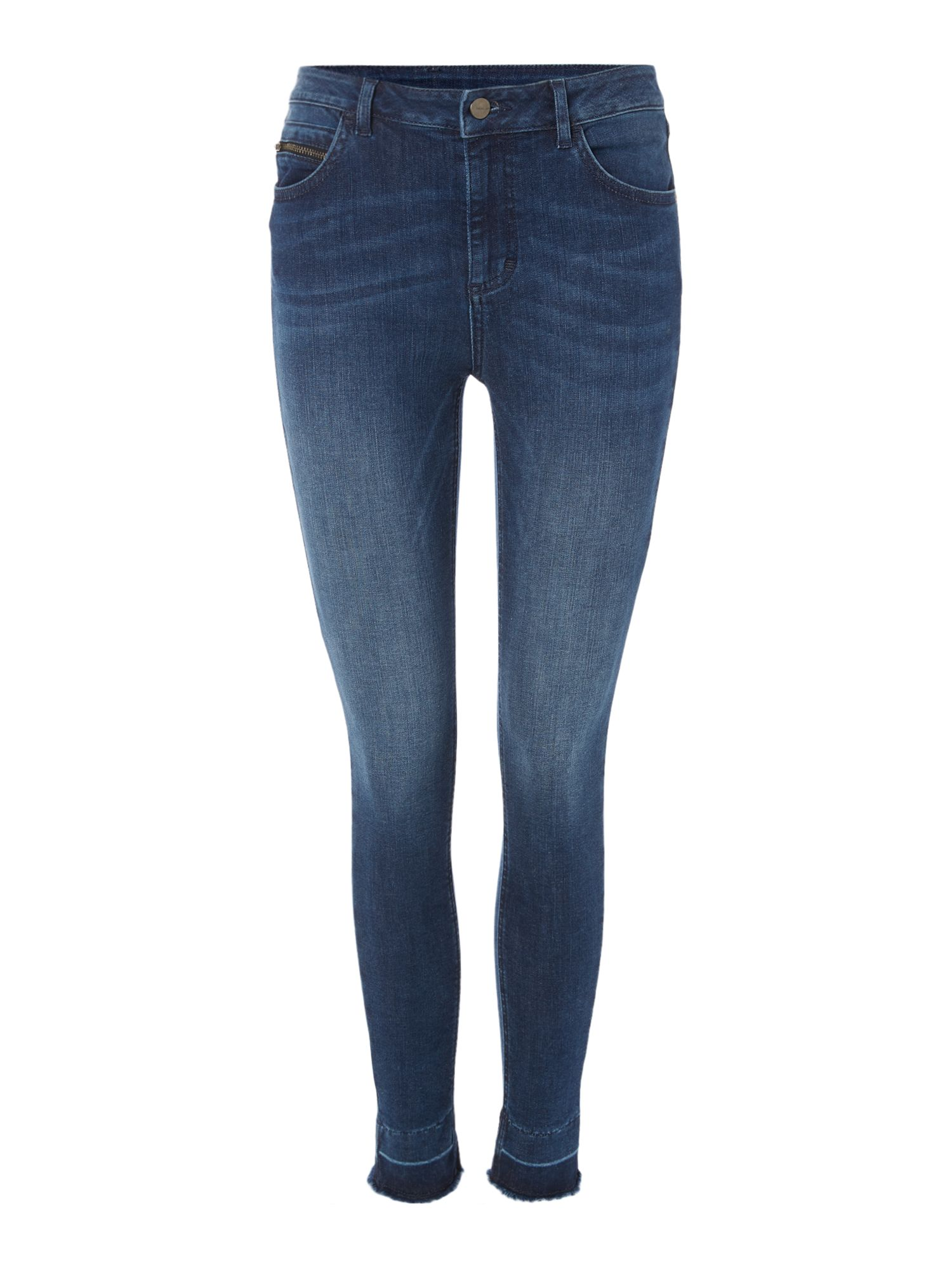 Label Lab Monument Undone Hem Jeans, Indigo