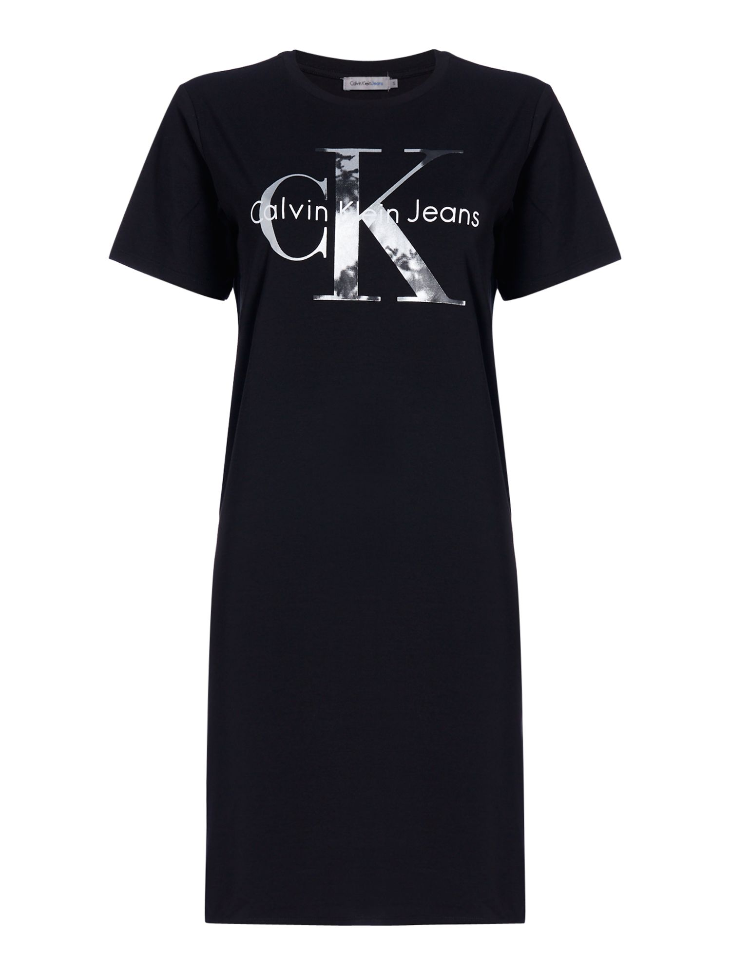 Calvin Klein Short sleeves True Icon CK Logo Dress, Black