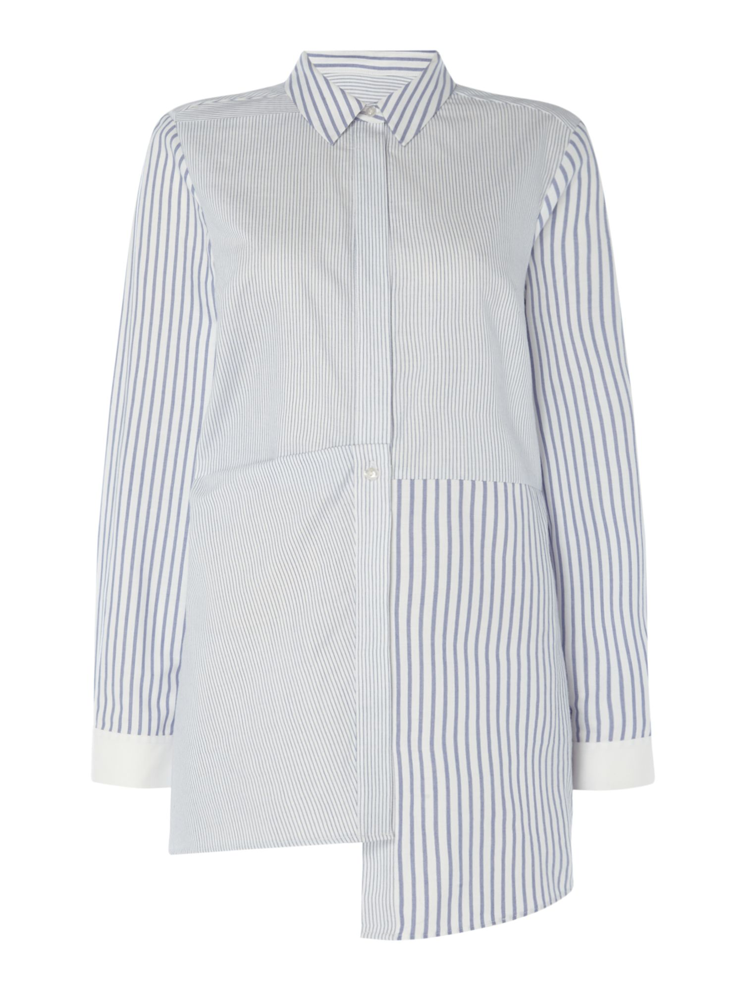 Label Lab Stripe Hitch & Slash Shirt, Blue
