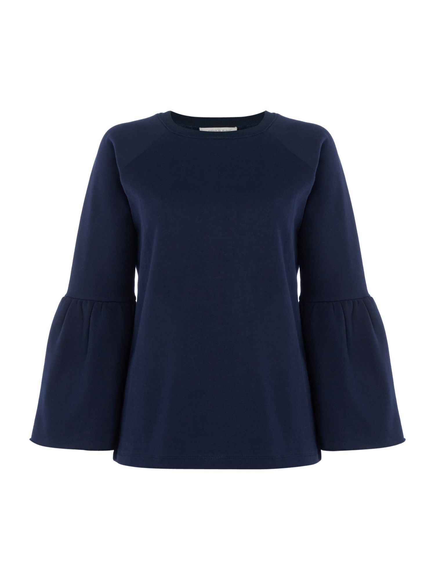 Maison De Nimes Fluted Sleeve Sweat, Blue