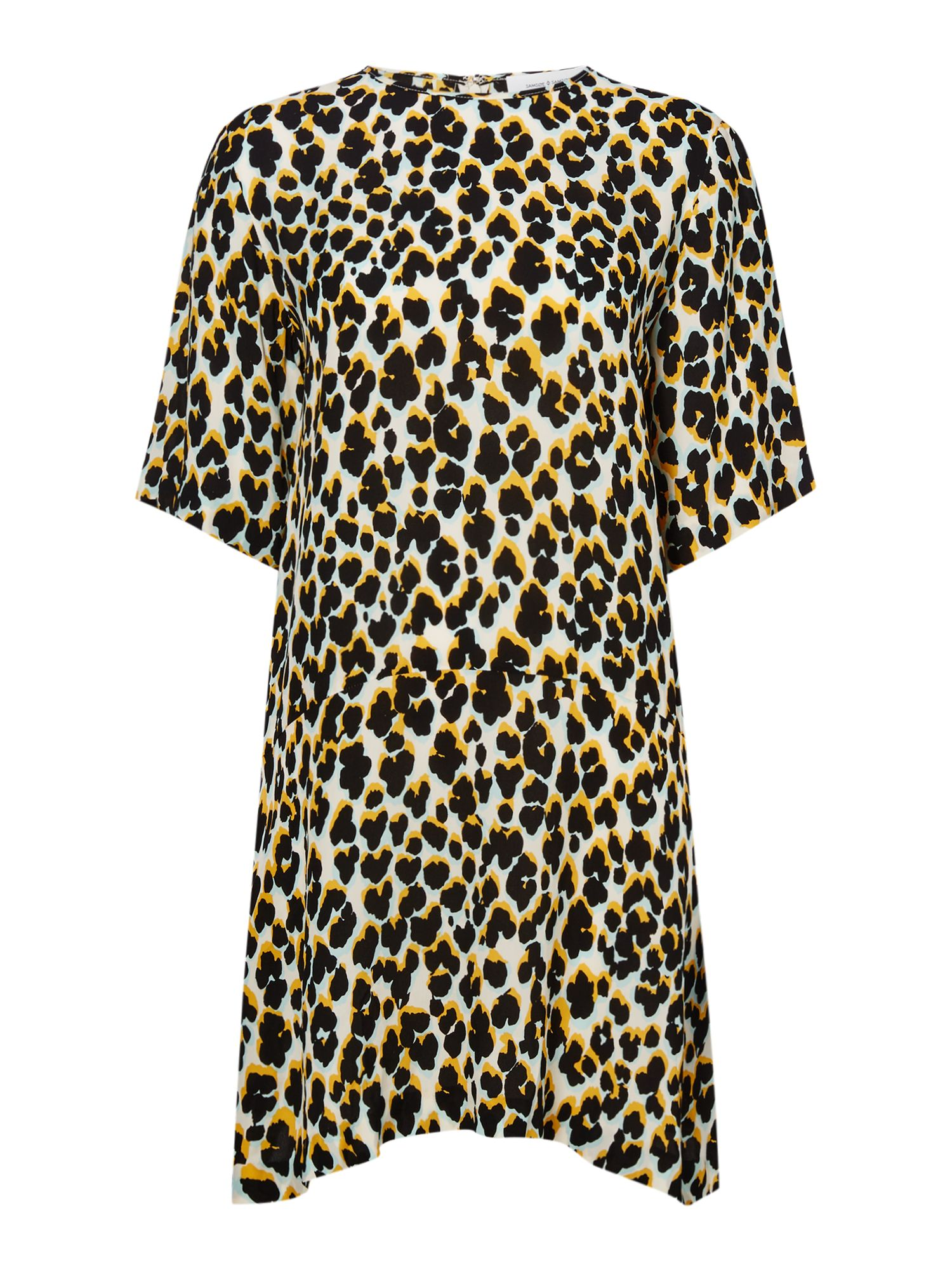 Samsoe and Samsoe Leopard print dropped waist dress, Leopard