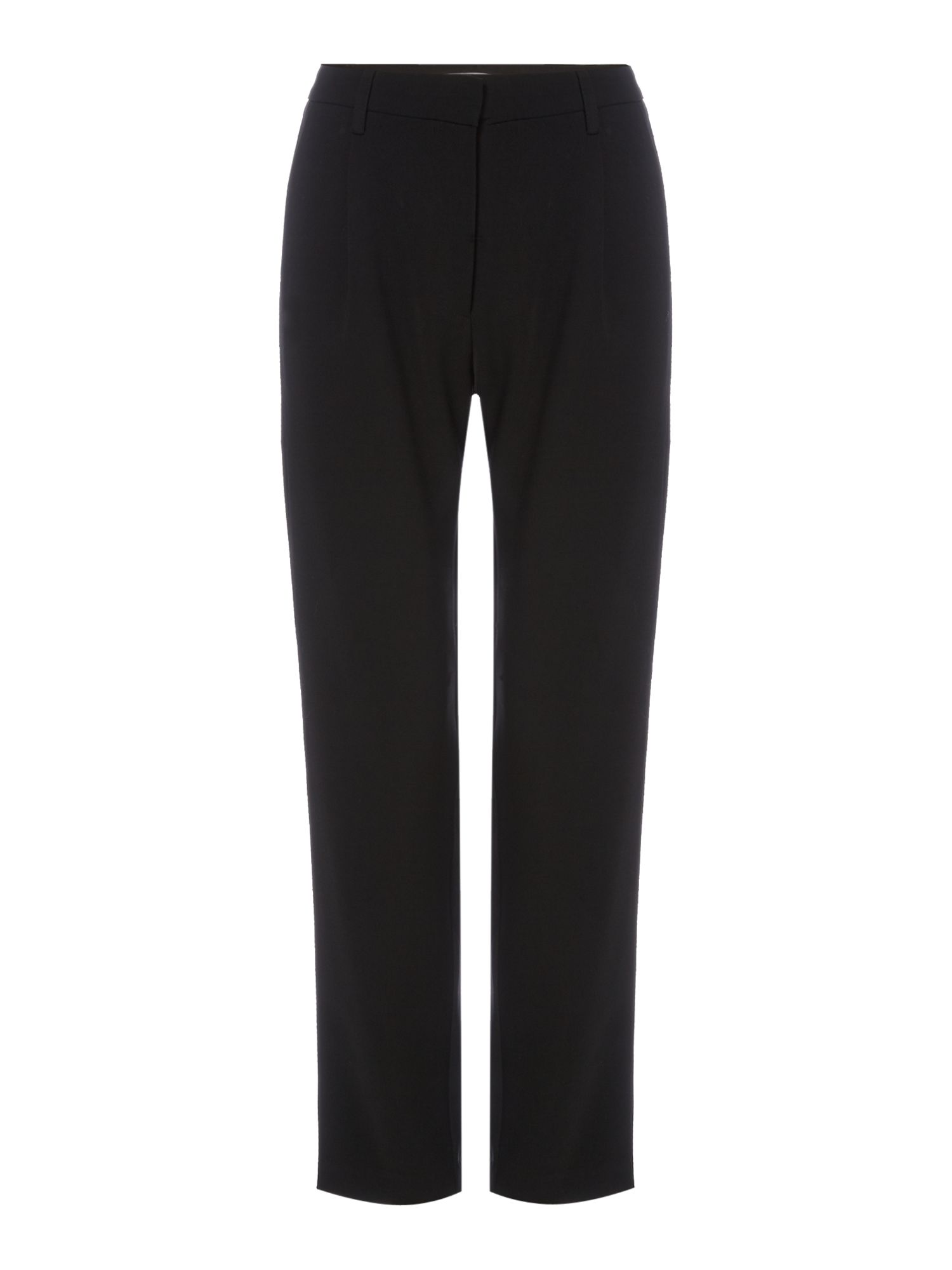Samsoe and Samsoe Slim fit trousers with front pleat, Black