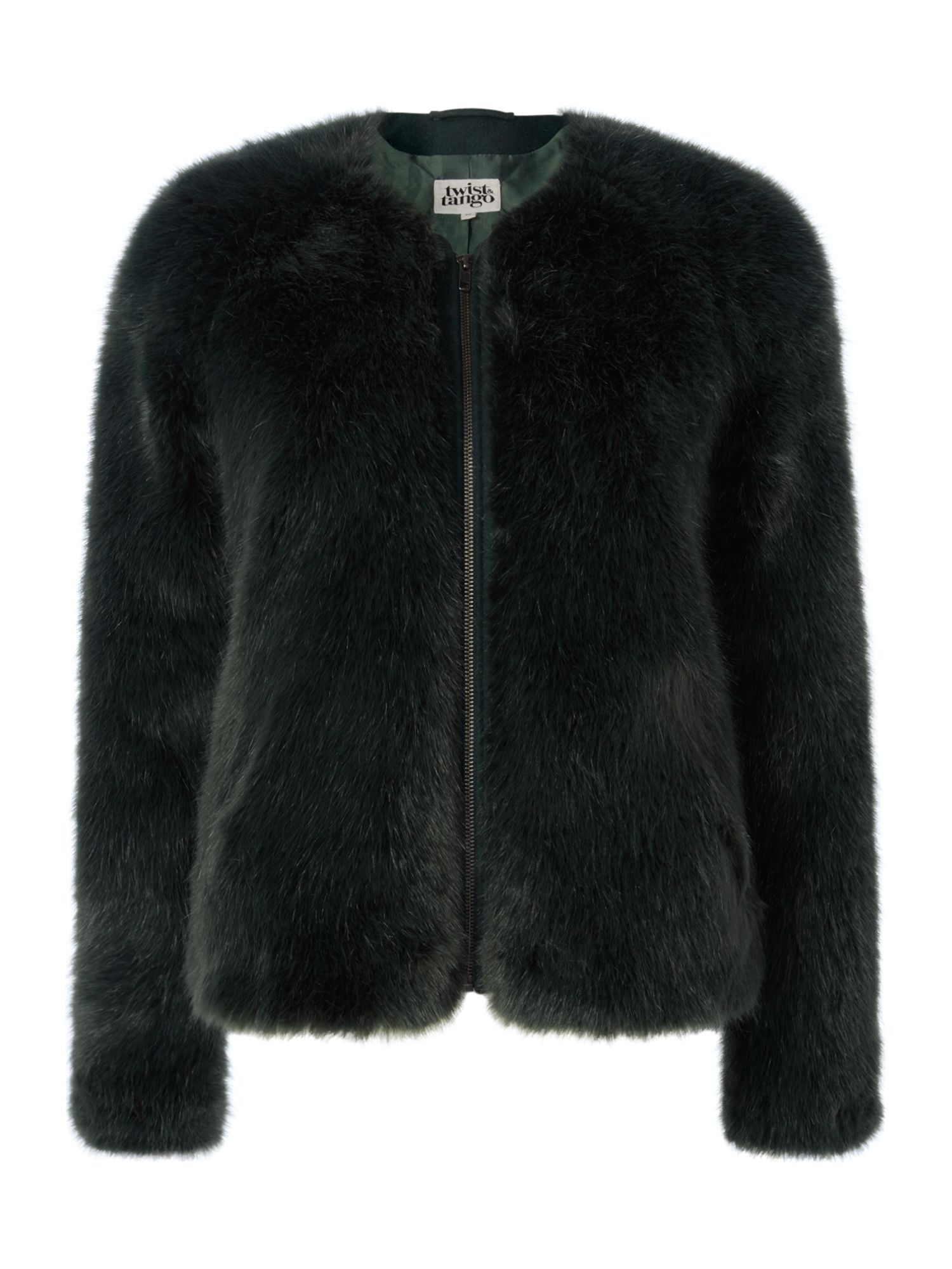Twist and Tango Viola faux fur jacket, Forest
