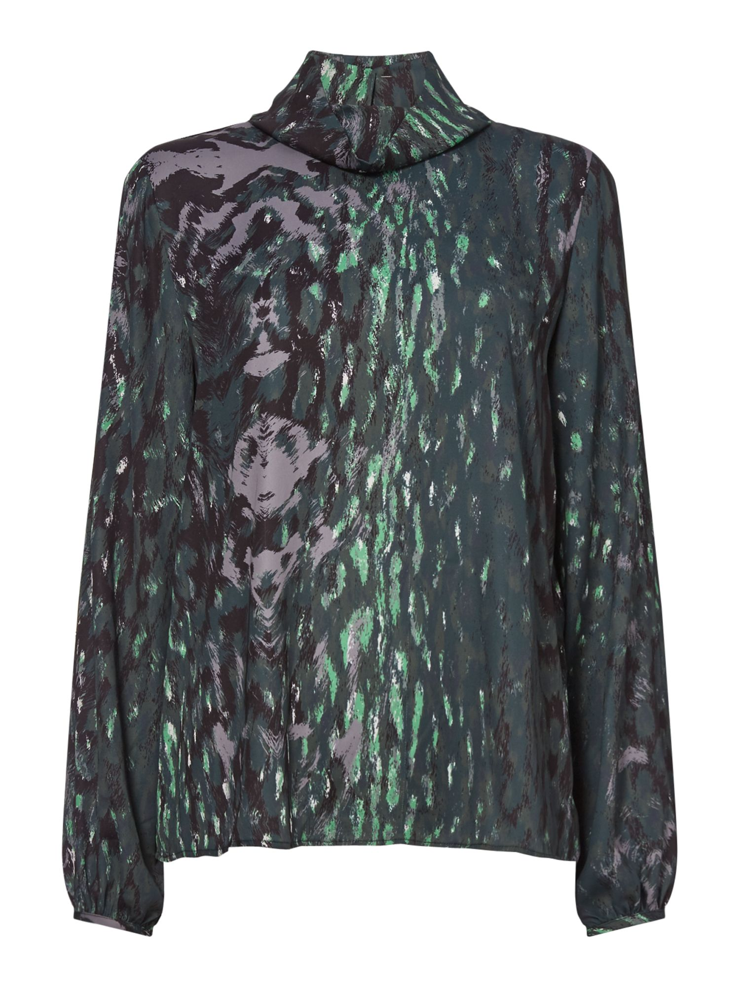 Twist and Tango Carrie Leopard Print Blouse, Green