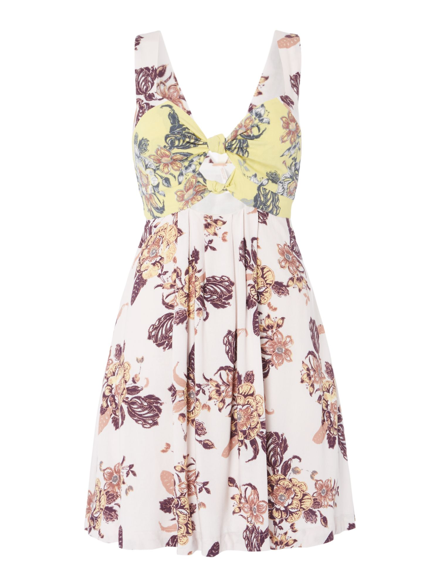 Free People Baby It`s You Printed Mini Dress, Multi-Coloured