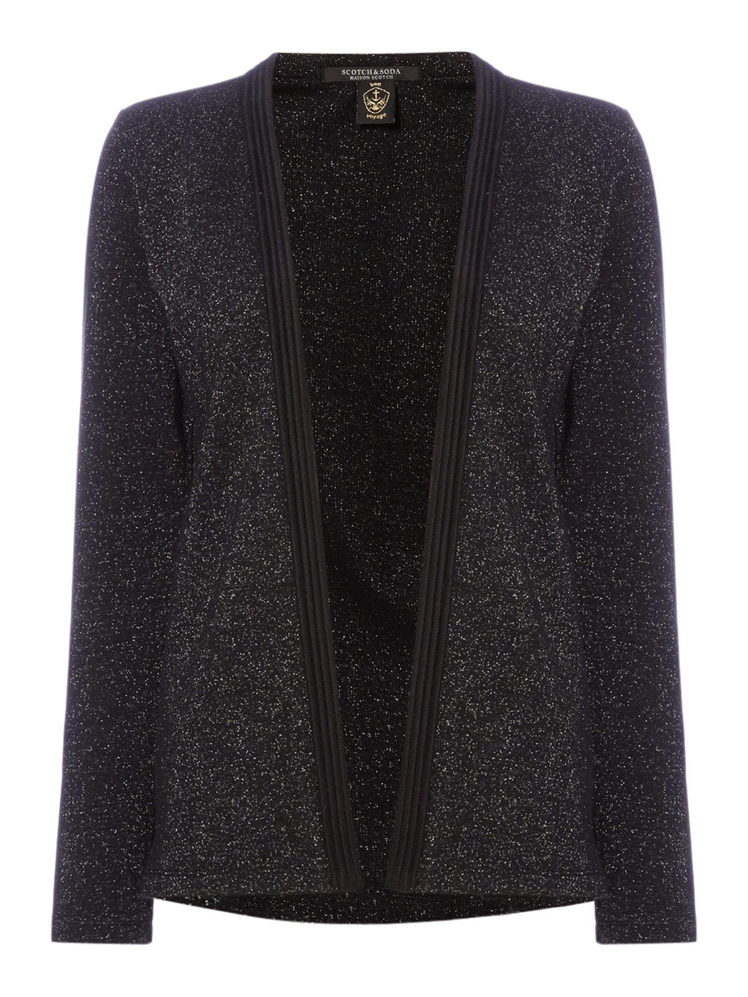 Maison Scotch Lurex jersey blazer, Black
