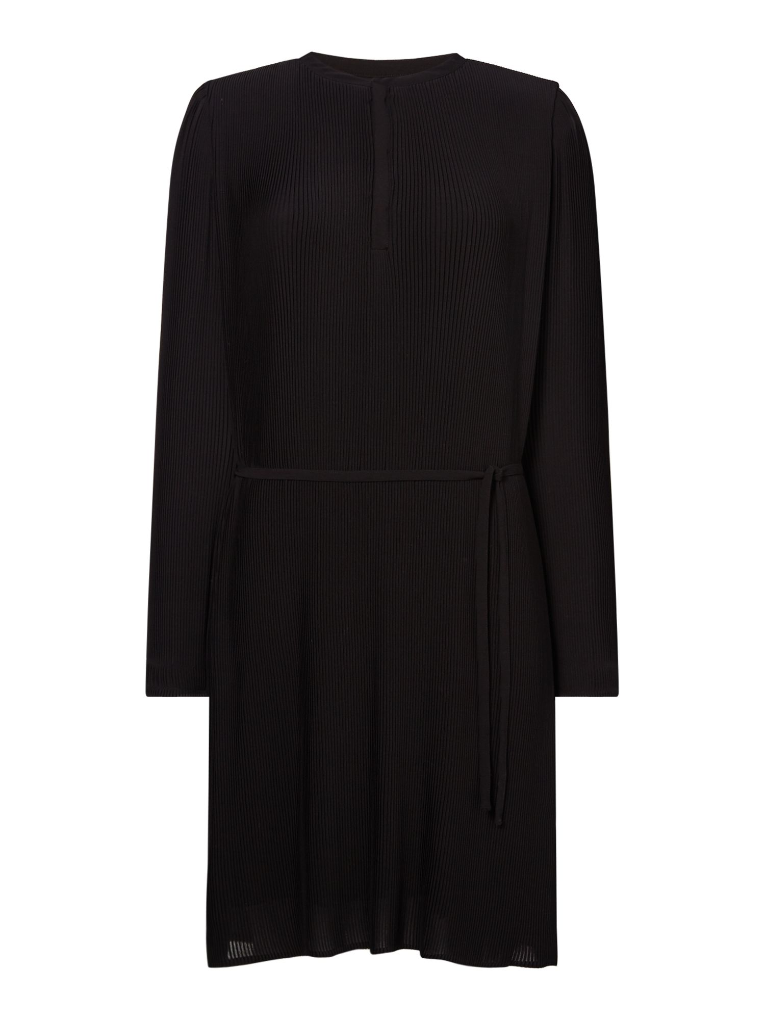 Samsoe and Samsoe V neck dress with tie waist, Black