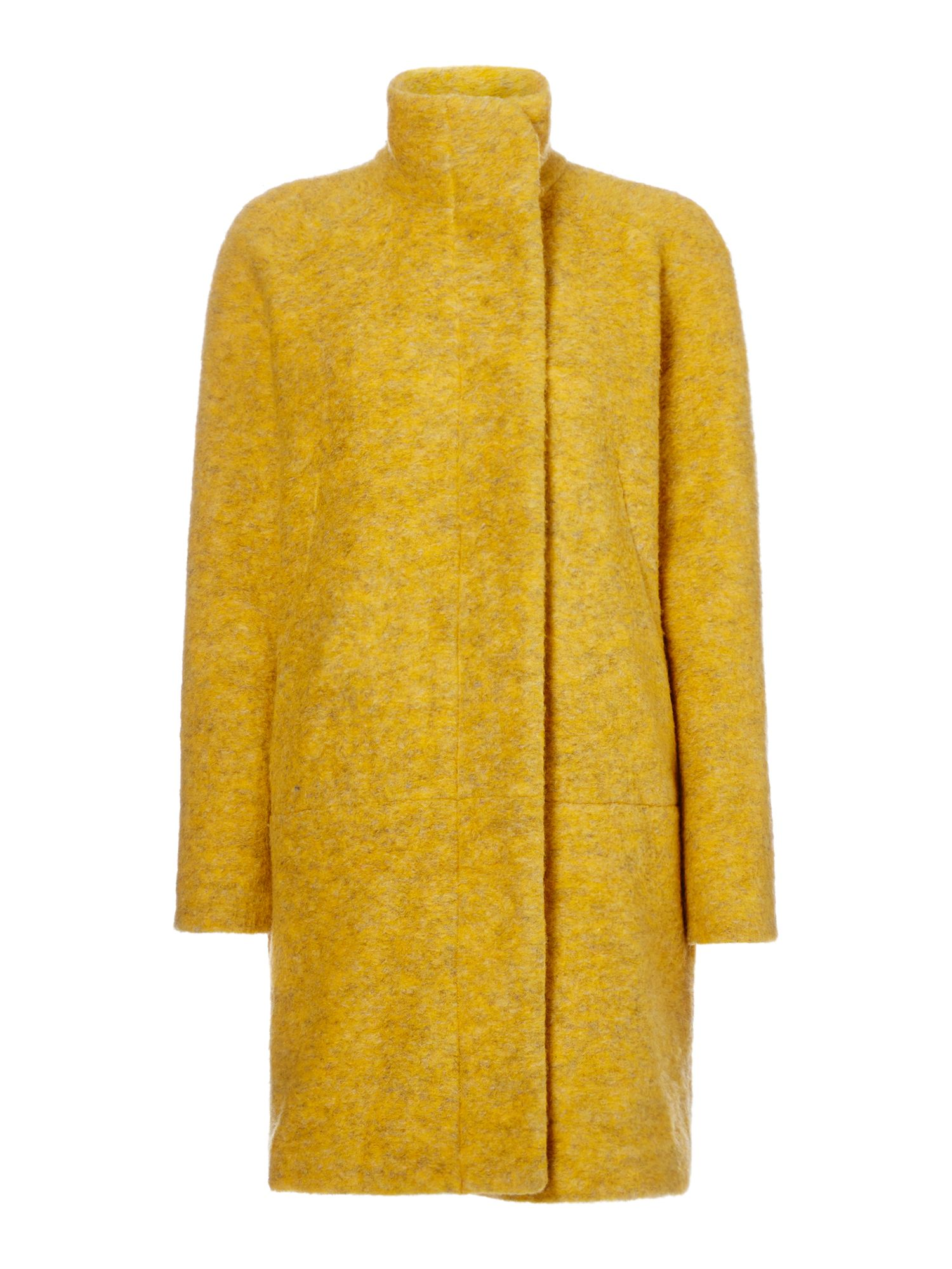 Samsoe and Samsoe Longsleeve wool coat with button front, Gold