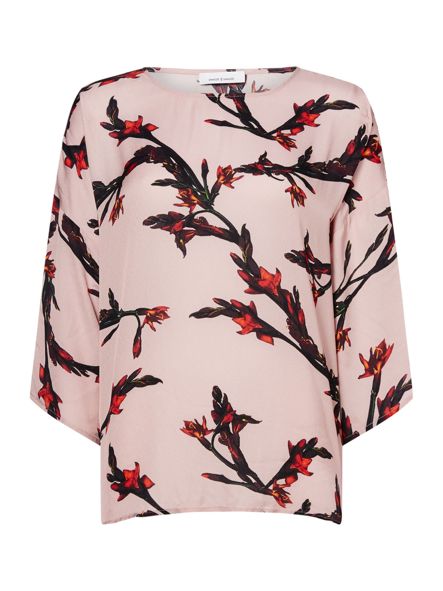 Samsoe and Samsoe Longsleeve flroal print top, Rose