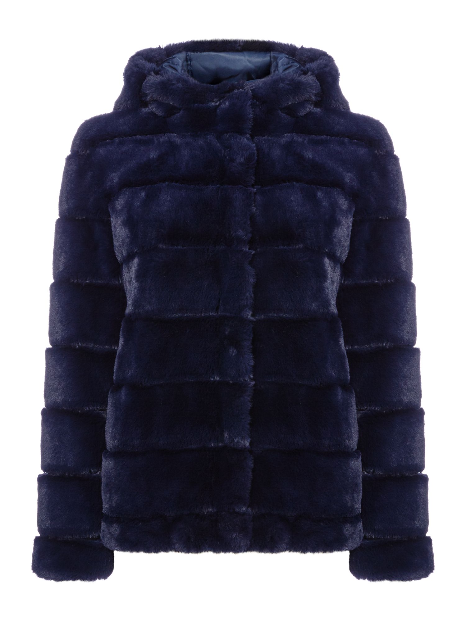 Samsoe and Samsoe Hooded teddy bear jacket, Sapphire Blue