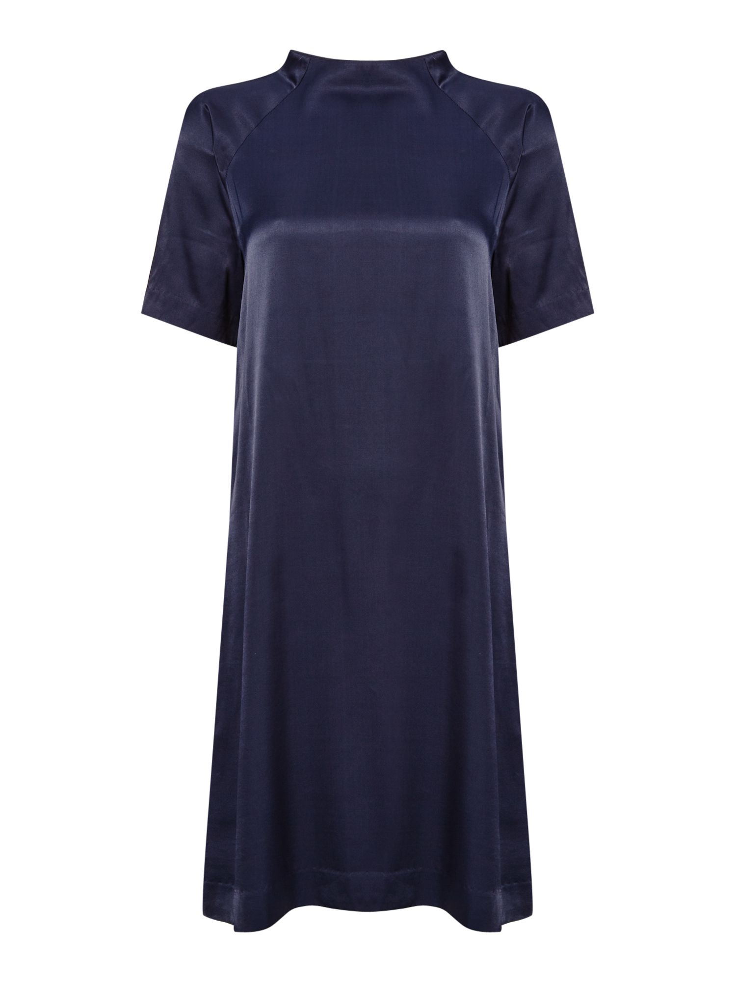 Samsoe and Samsoe Short sleeve crew neck shift dress, Sapphire Blue