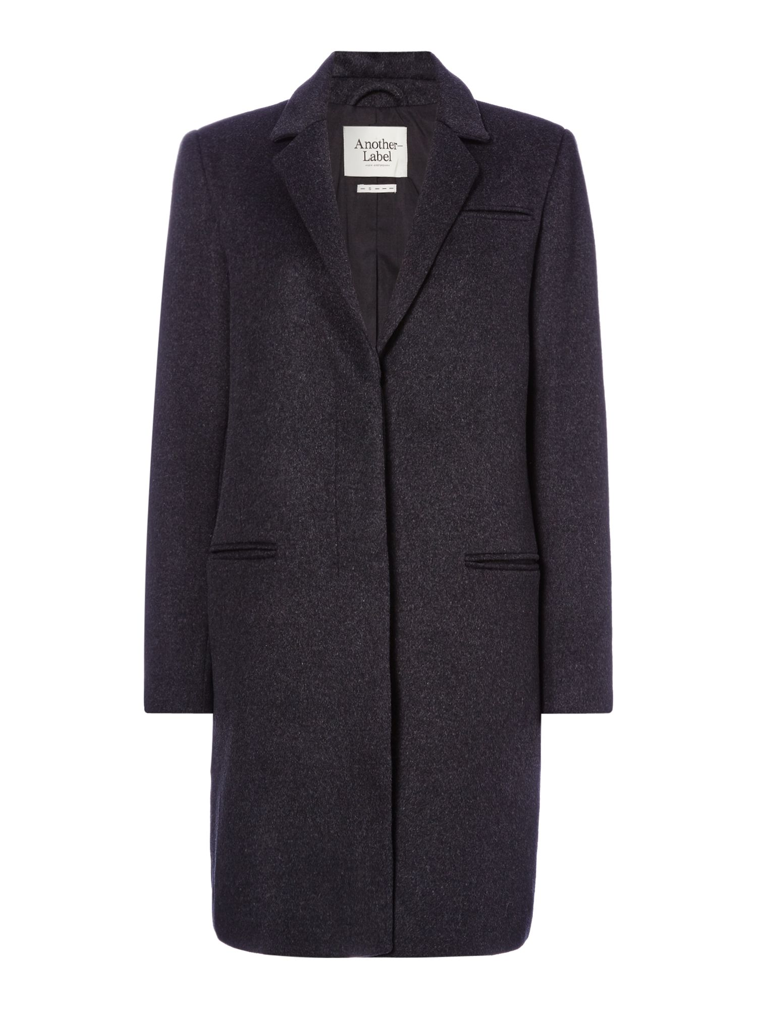 Another Label Dono wool coat, Charcoal