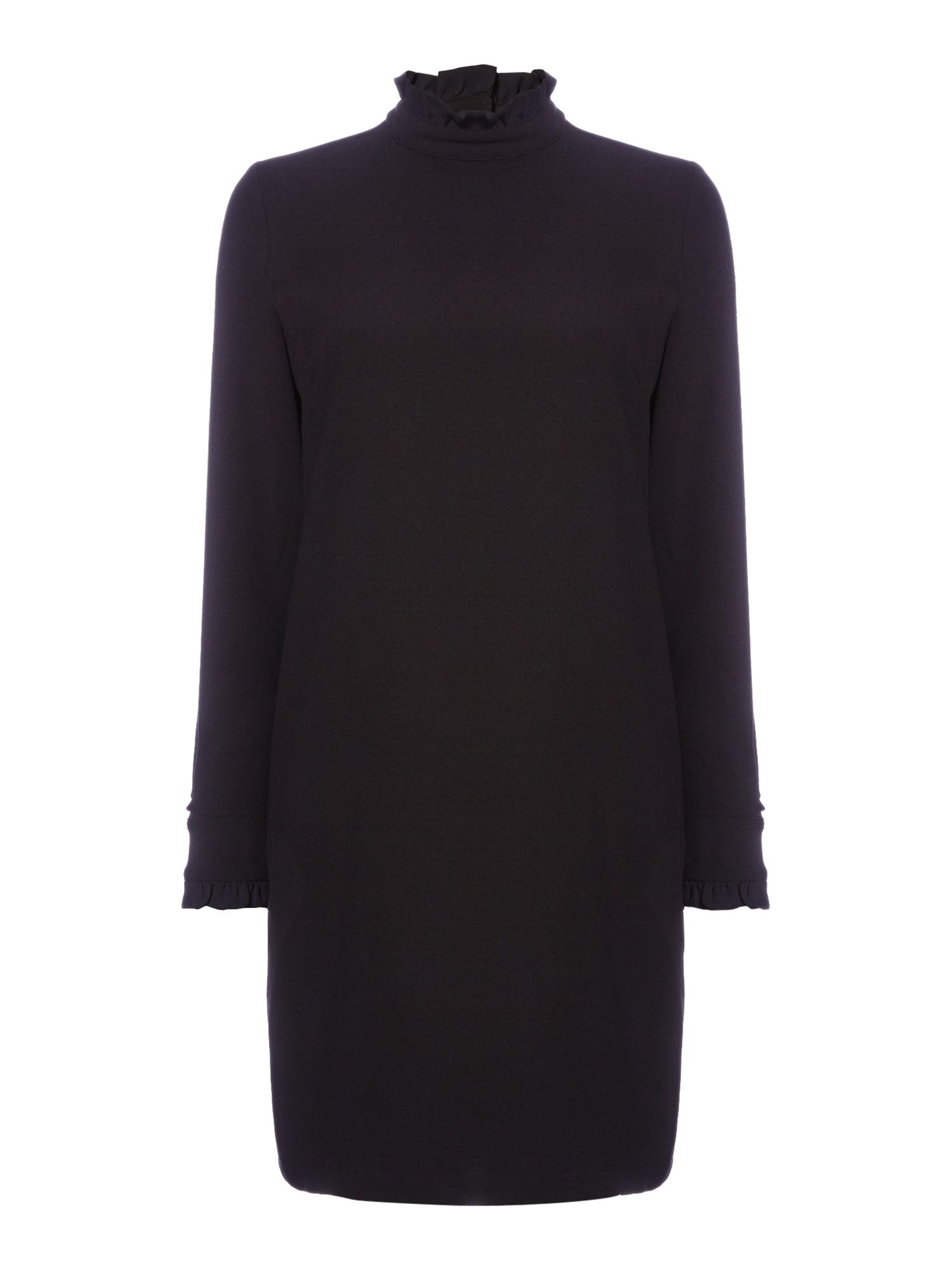 Another Label Dawsun ruffle long sleeve dress, Black