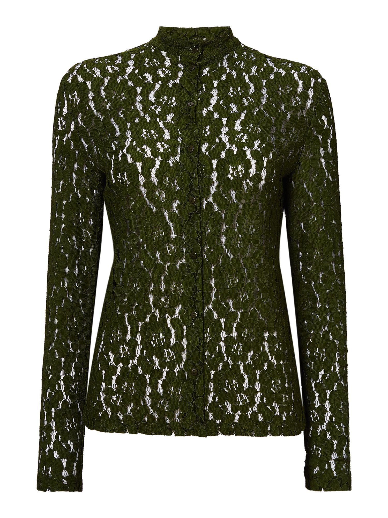 Another Label Dewey lace long sleeve top, Green