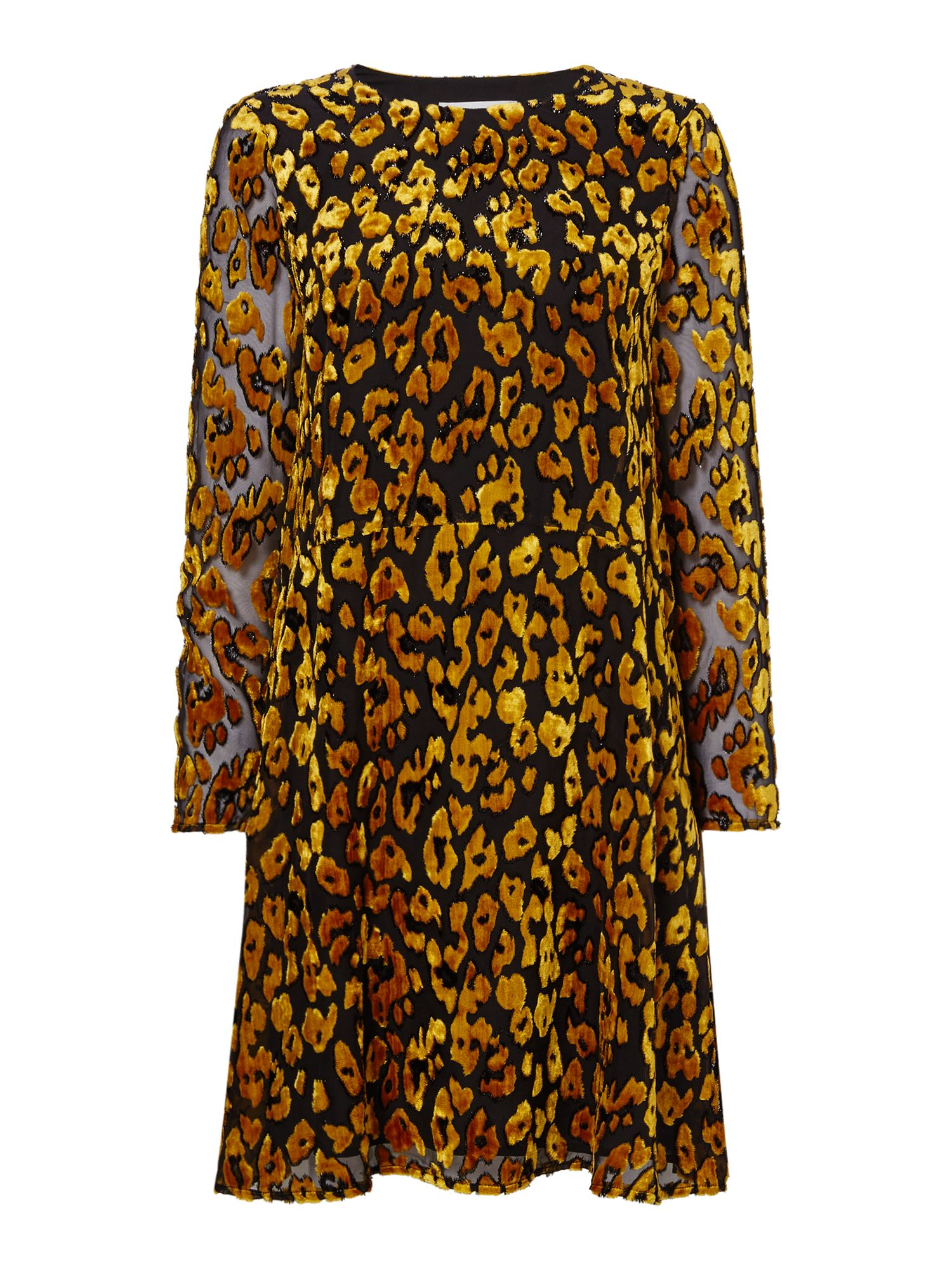 Samsoe and Samsoe Devore leopard shift dress, Gold