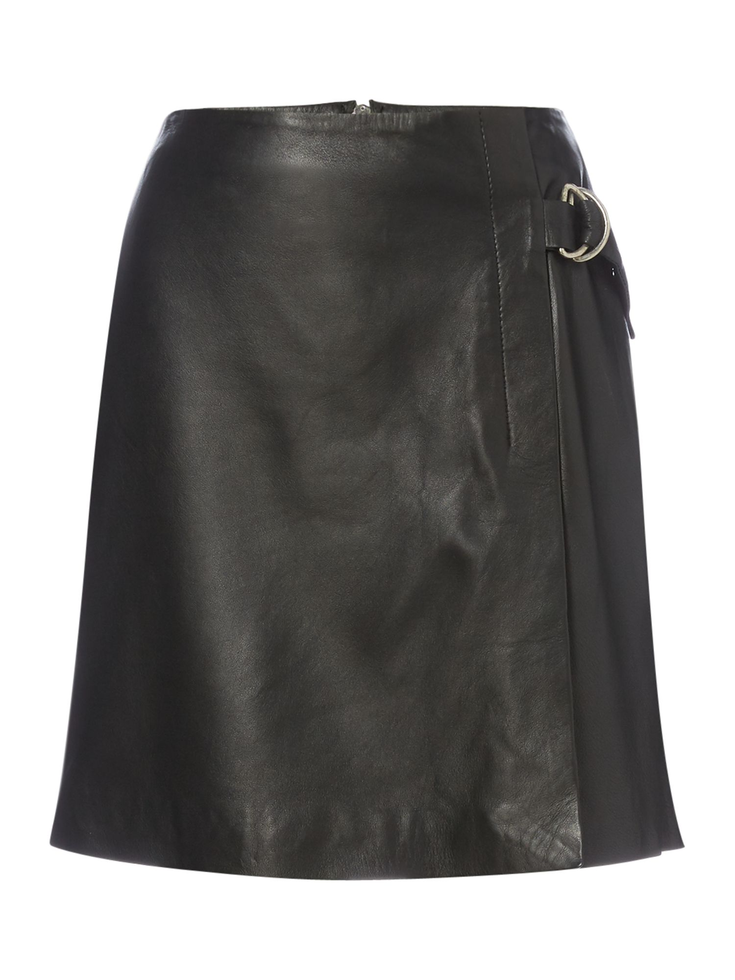 Another Label Dove leather skirt, Black