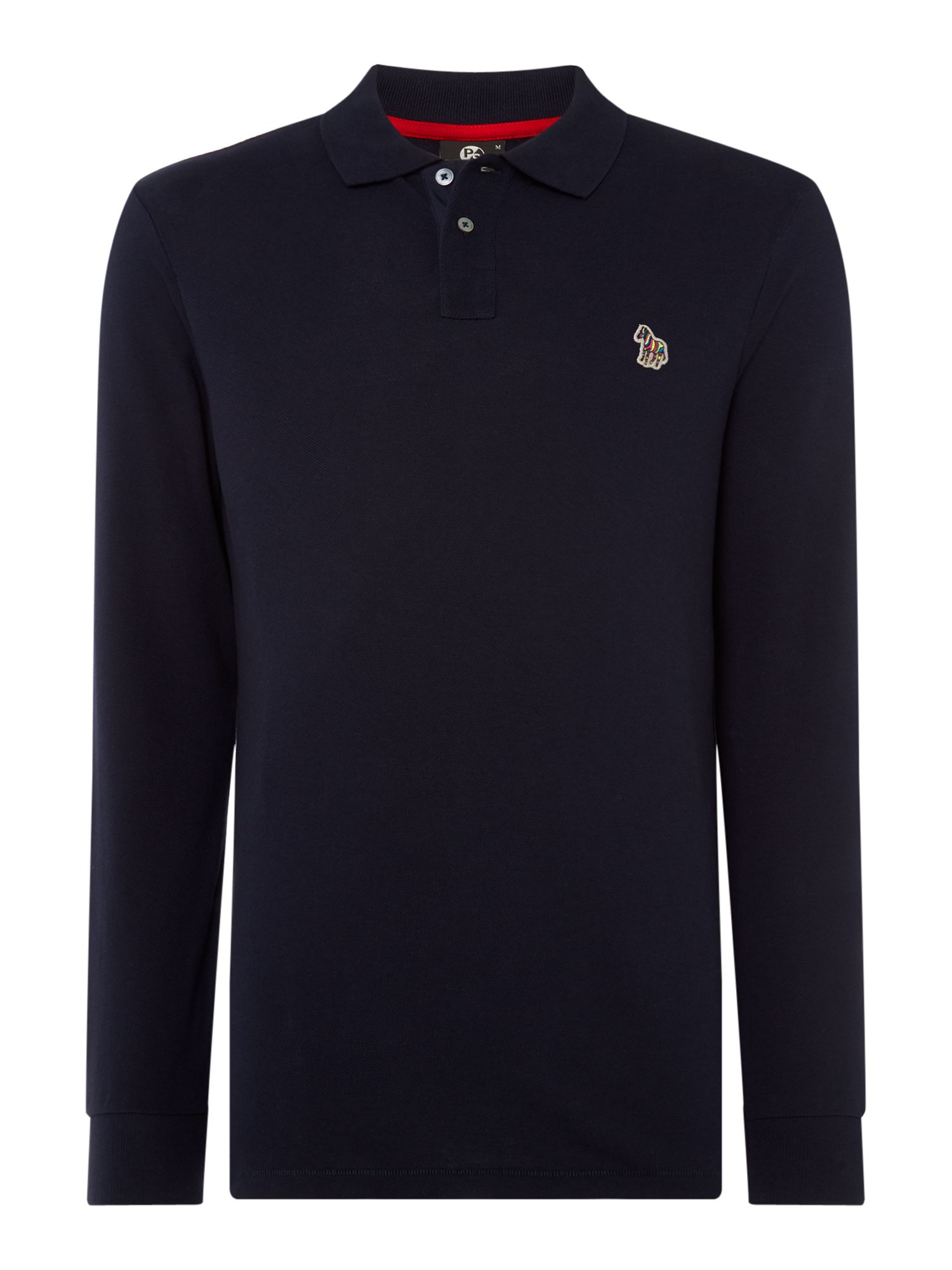 Men's PS By Paul Smith Regular fit zebra logo long-sleeve polo shirt, Blue