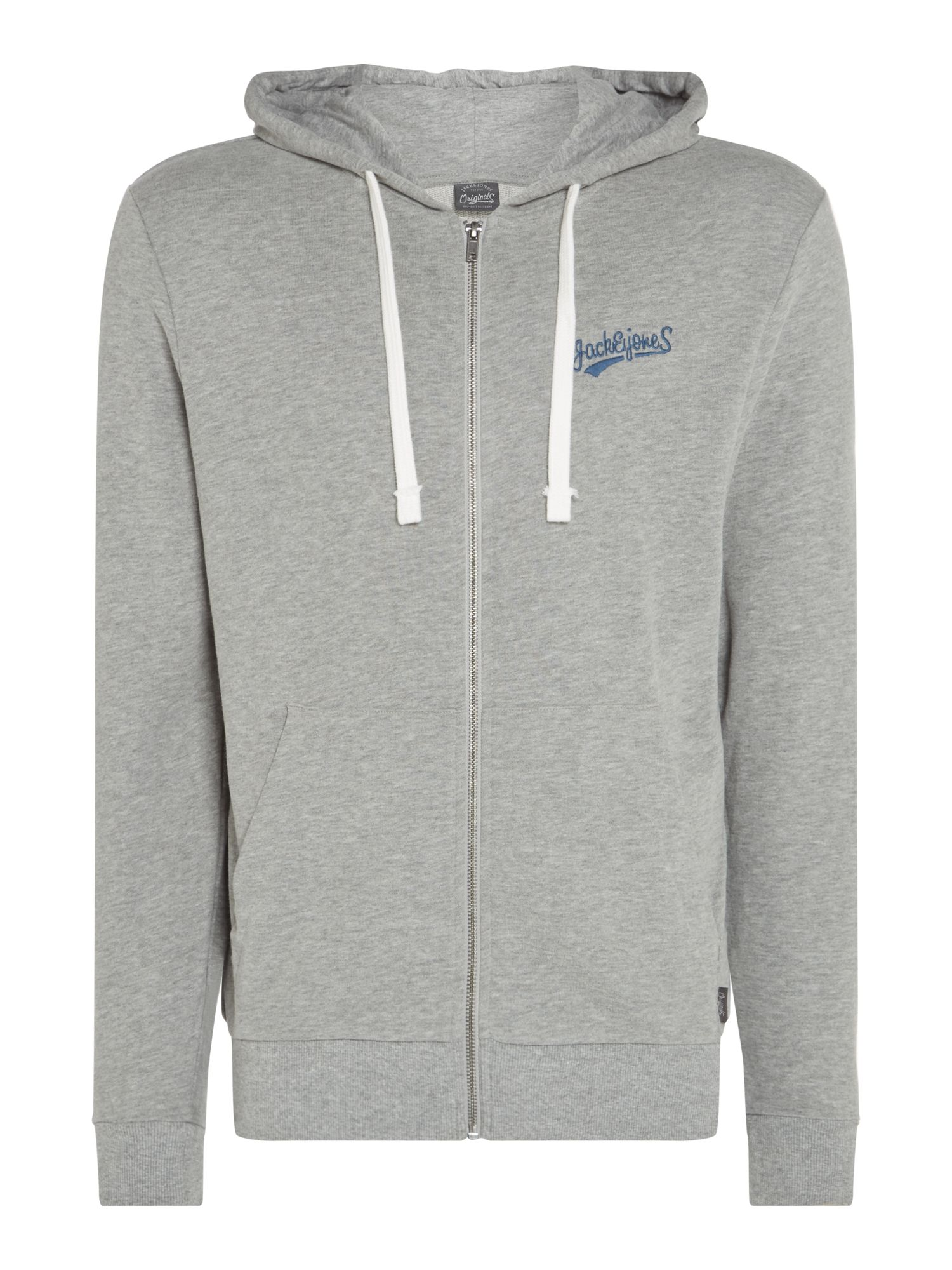 Men's Jack & Jones Mills Hoodie, Grey
