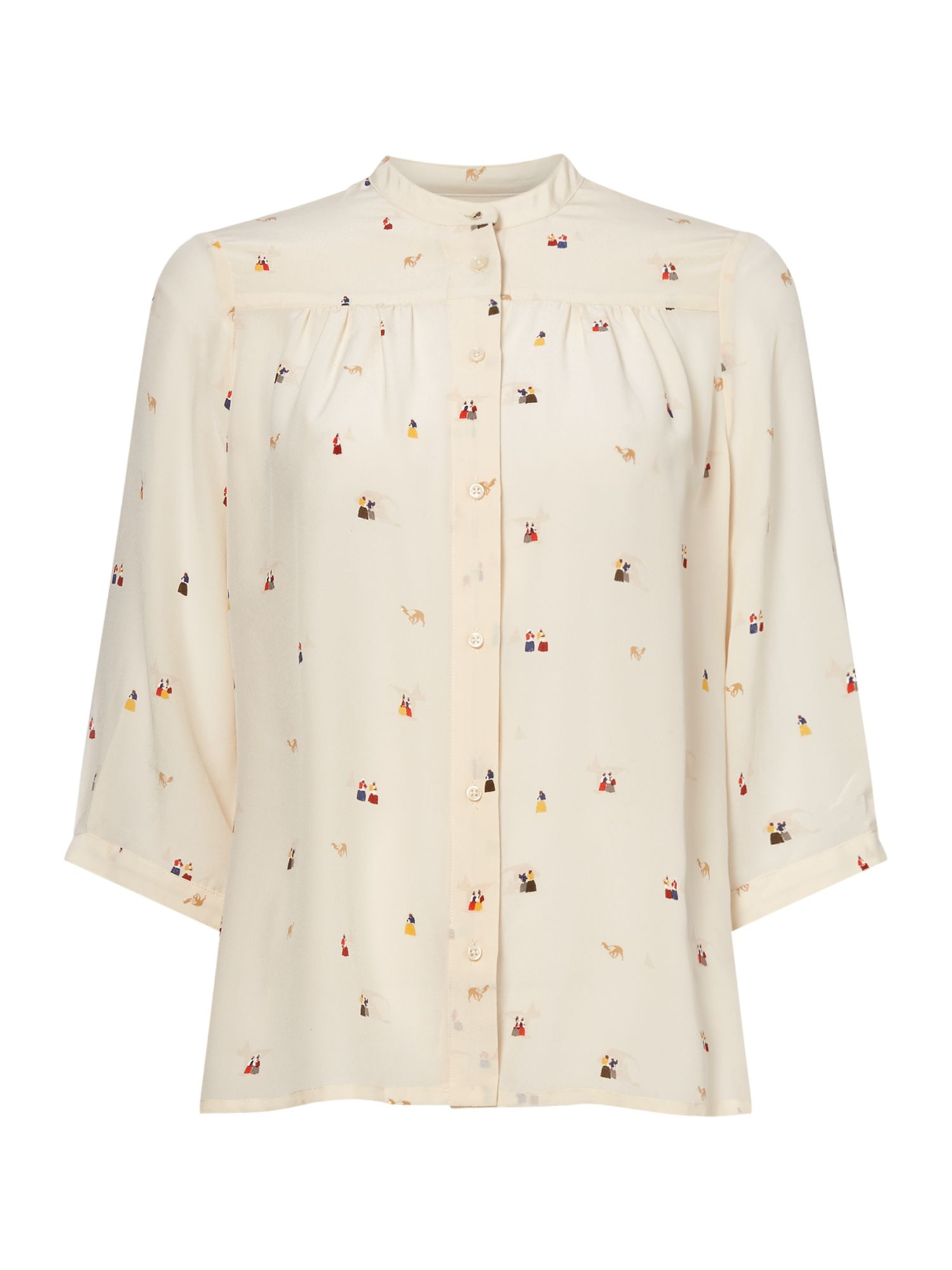 Sessun Village people silk shirt, Cream