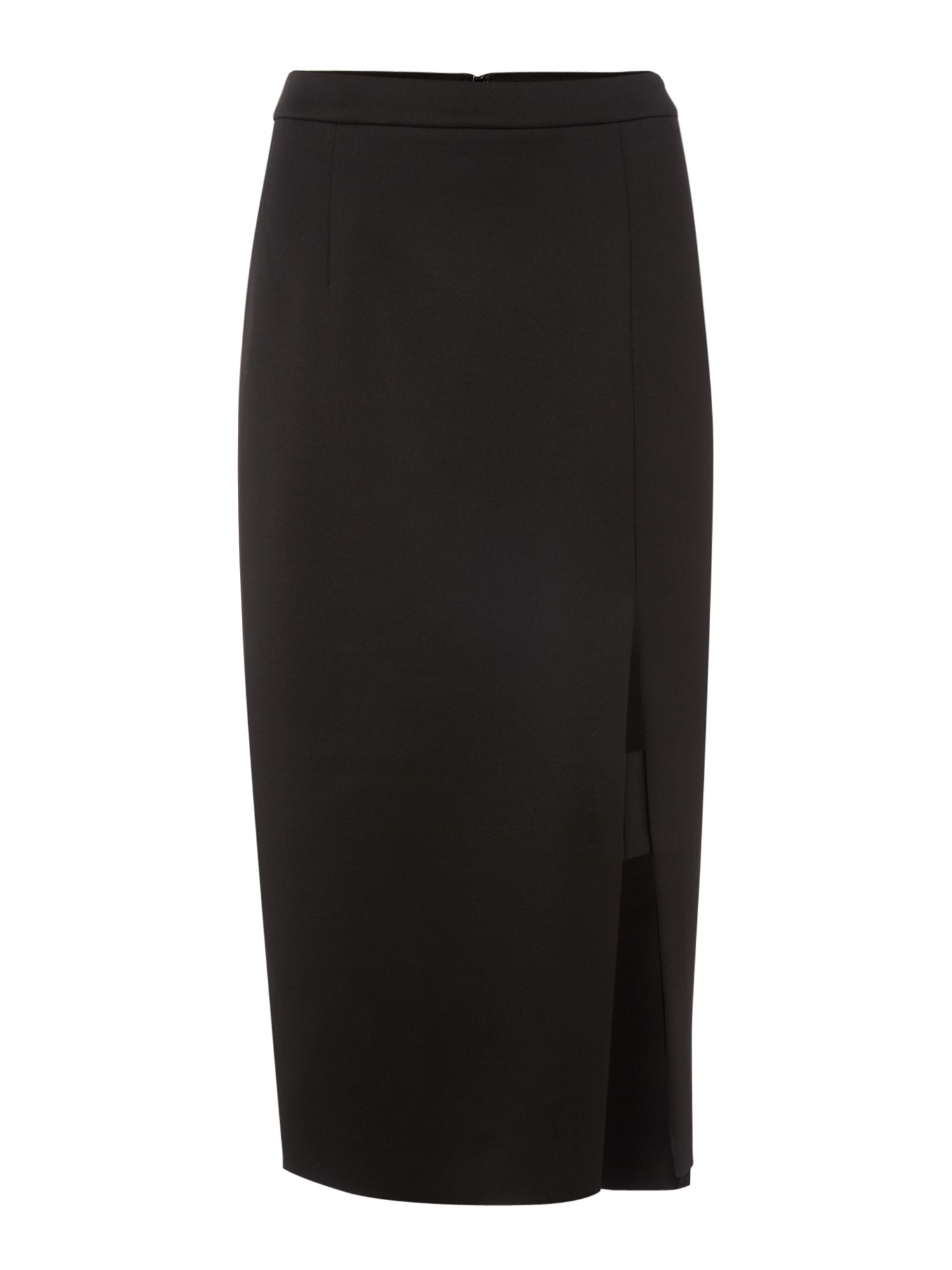 Label Lab Panelled Scuba Skirt, Black