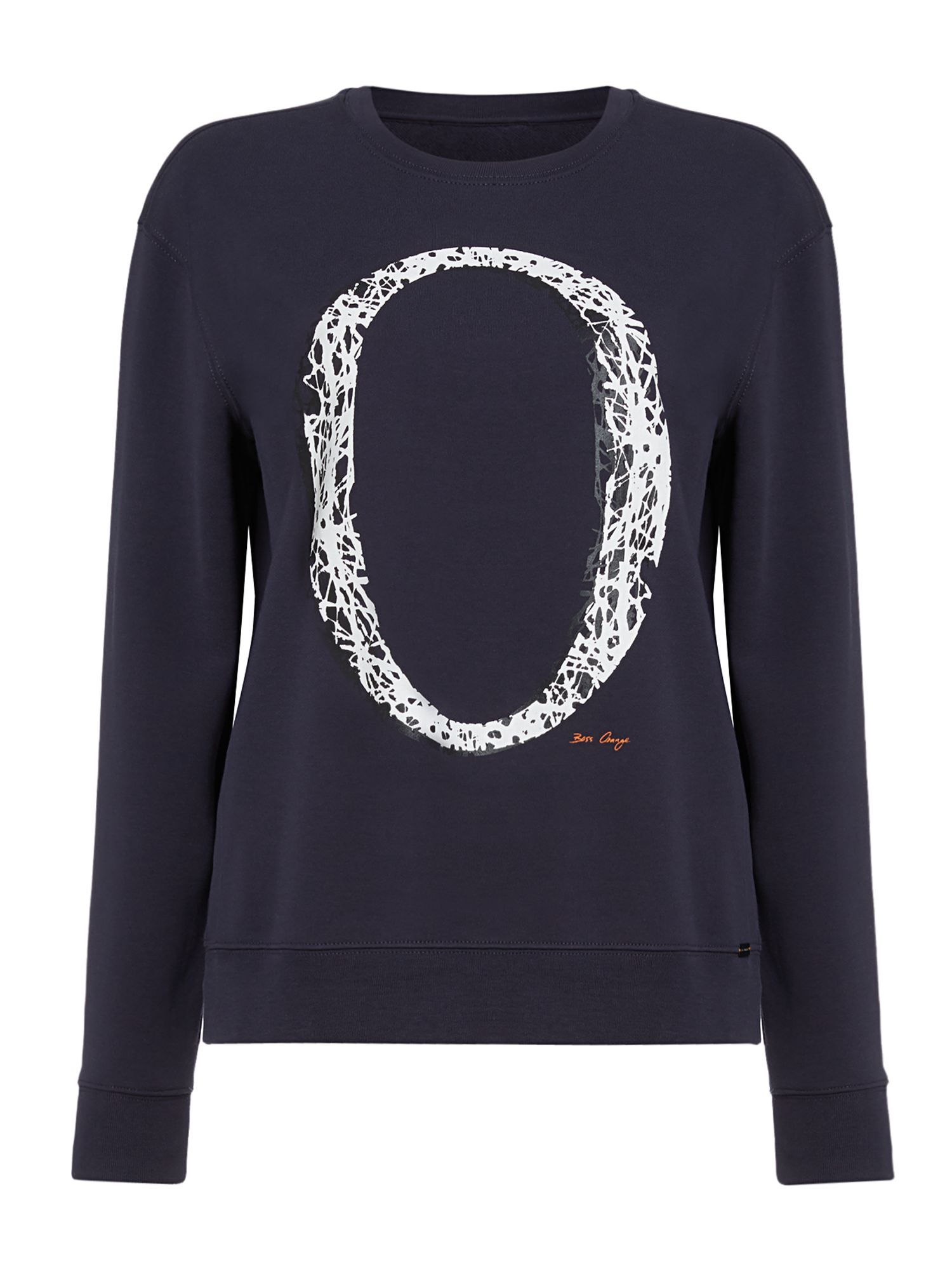 Hugo Boss Tapro long sleeve crew neck jumper, Blue