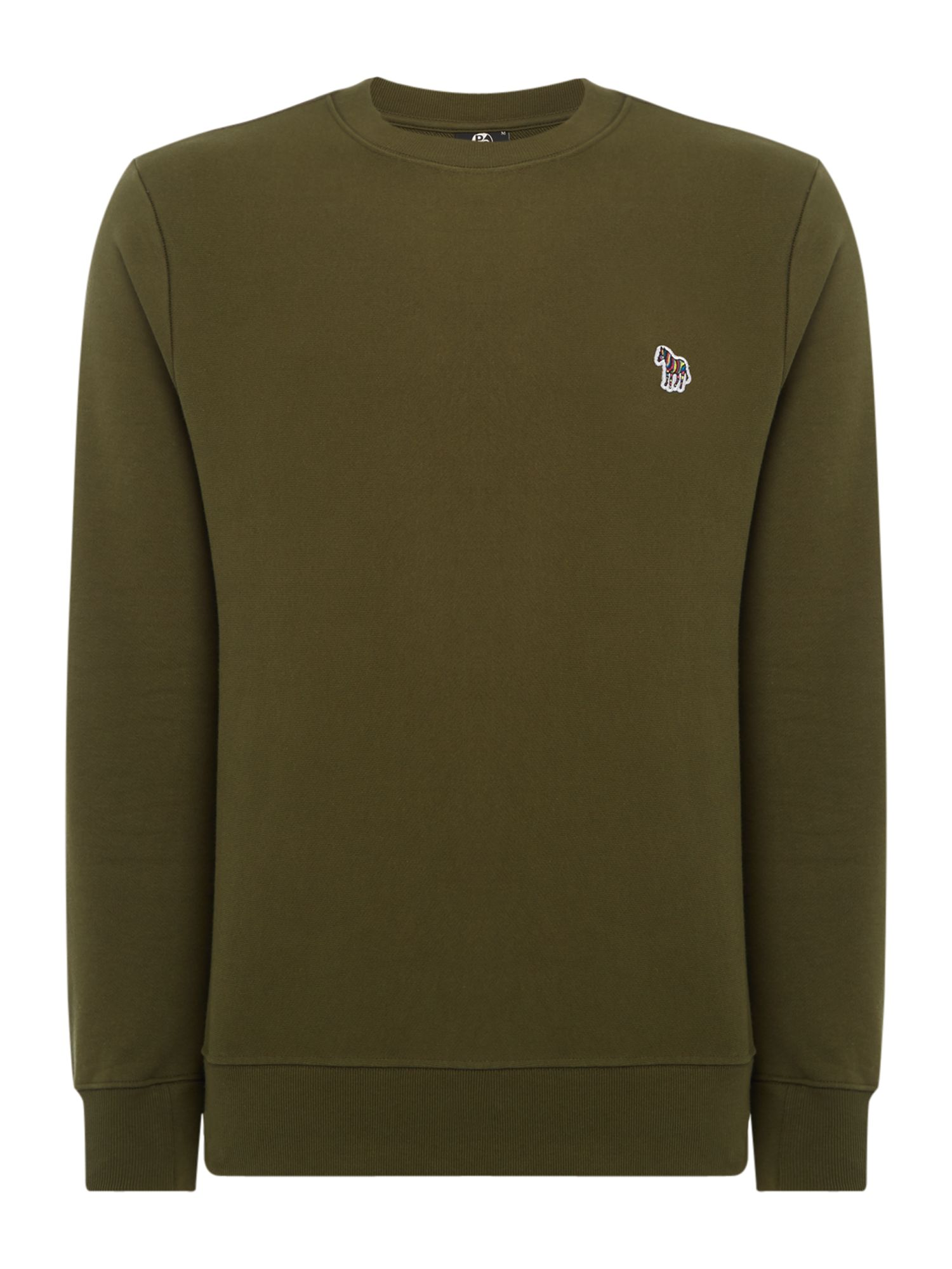 Men's PS By Paul Smith Zebra Logo Sweatshirt, Khaki