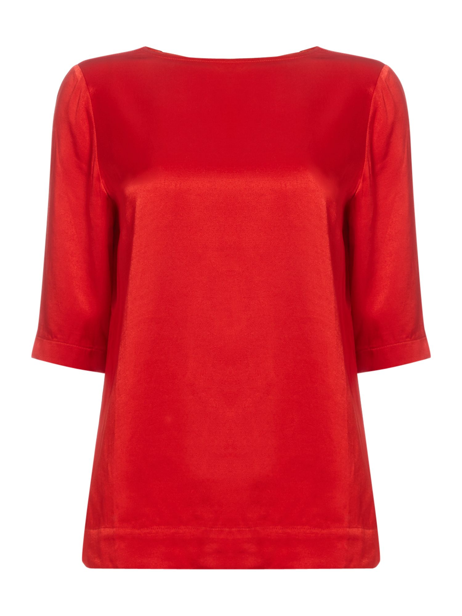 Another Label Dee satin short sleeve top, Orange