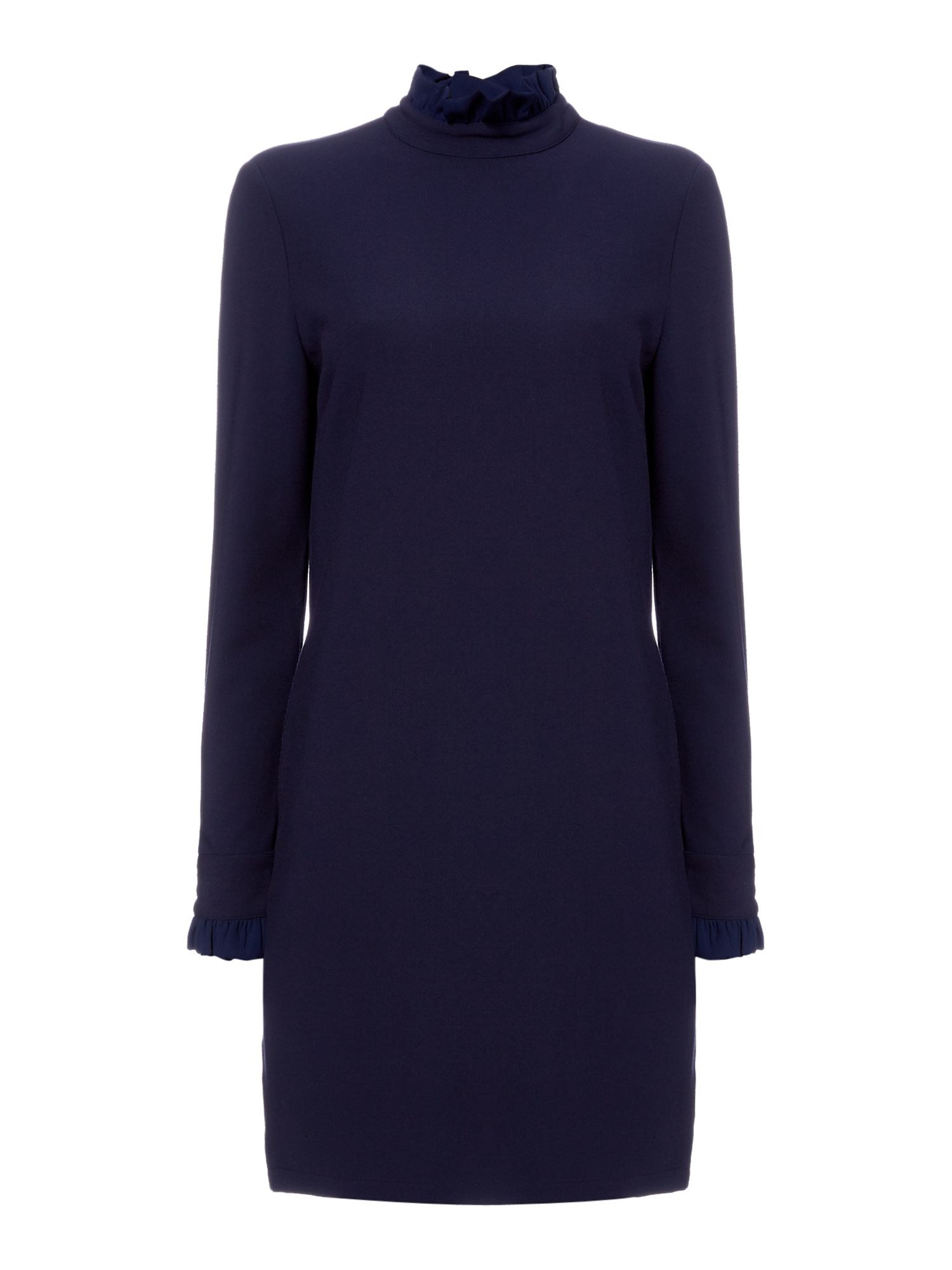 Another Label Dawson ruffle sleeve dress, Blue