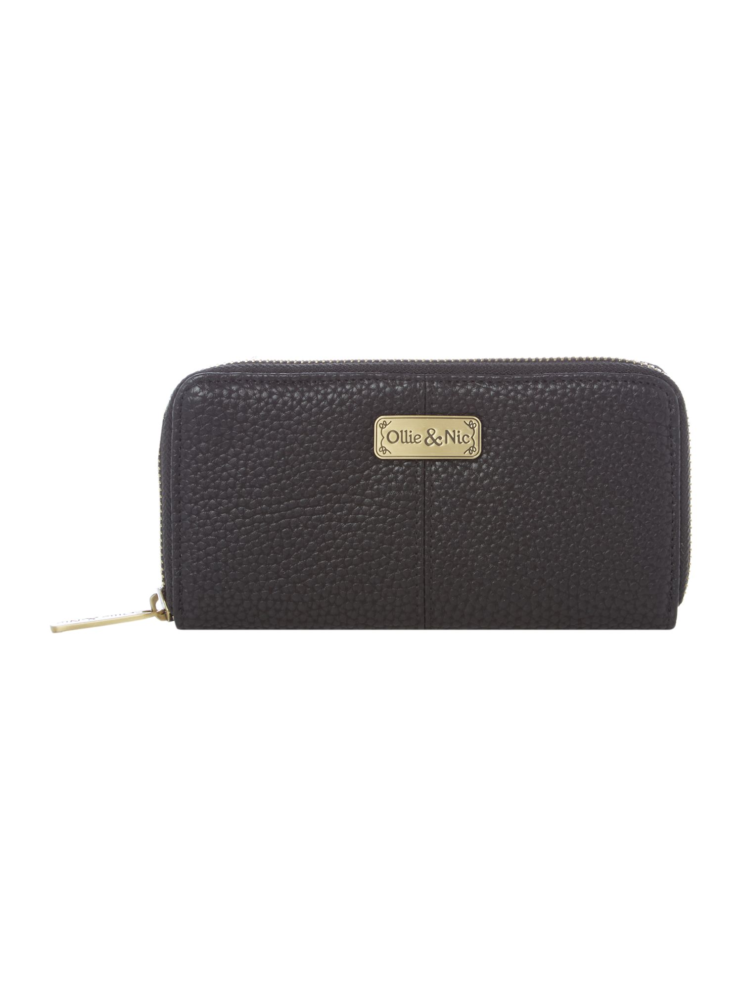 Ollie & Nic Claude textured zip around purse, Black