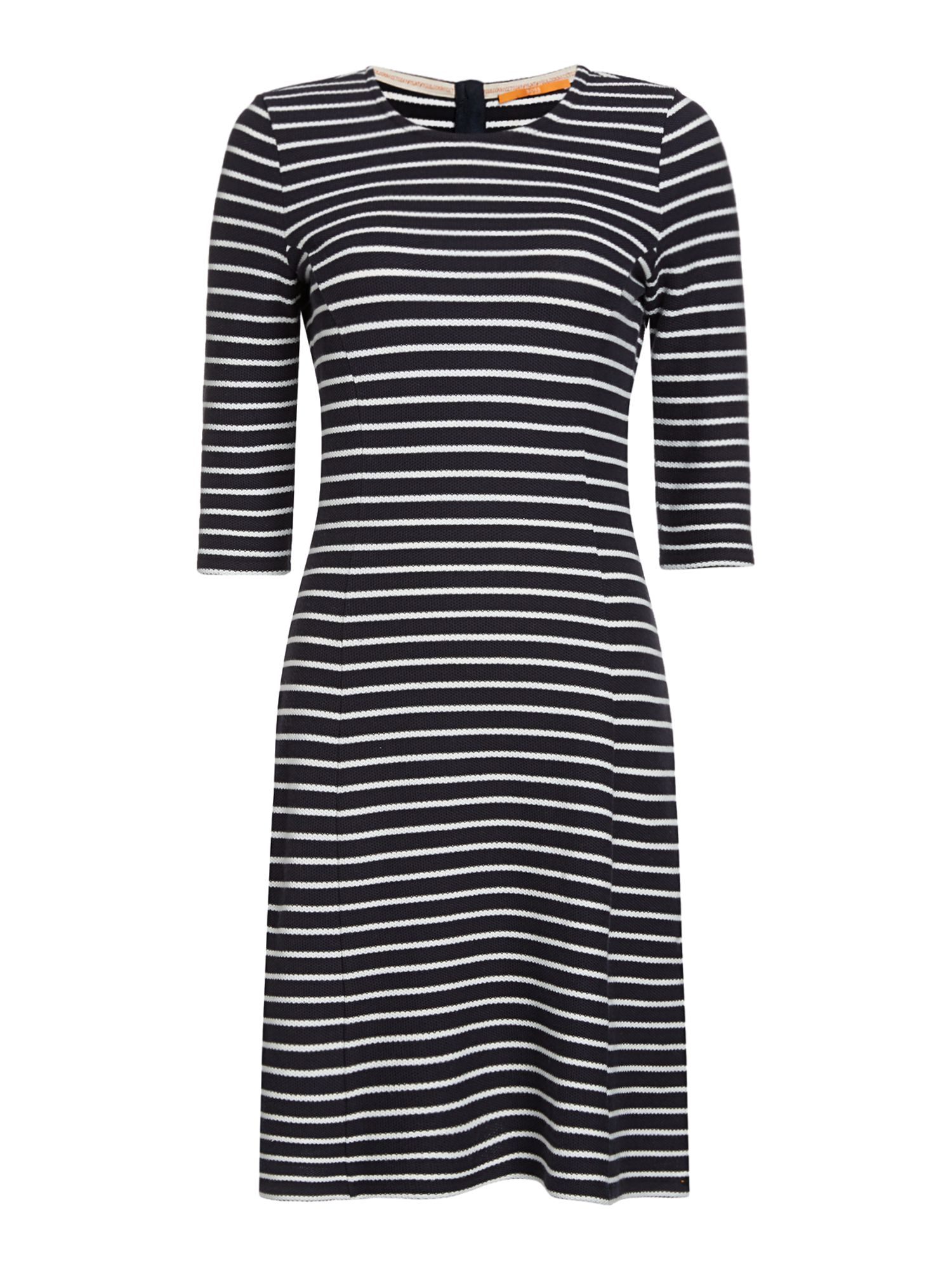 Hugo Boss Dressie 3/4 sleeve crew neck jersey dress, Blue