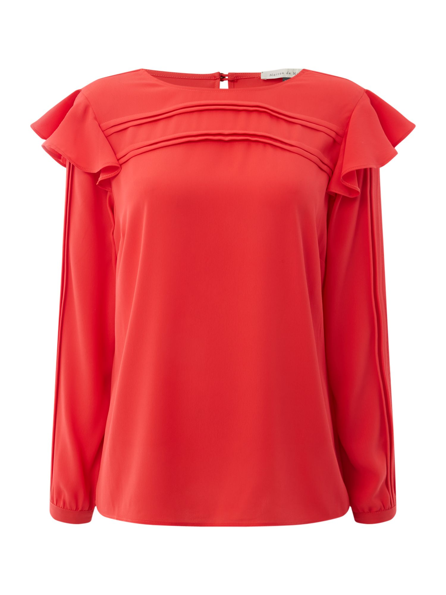Maison De Nimes Pleated Blouse, Red