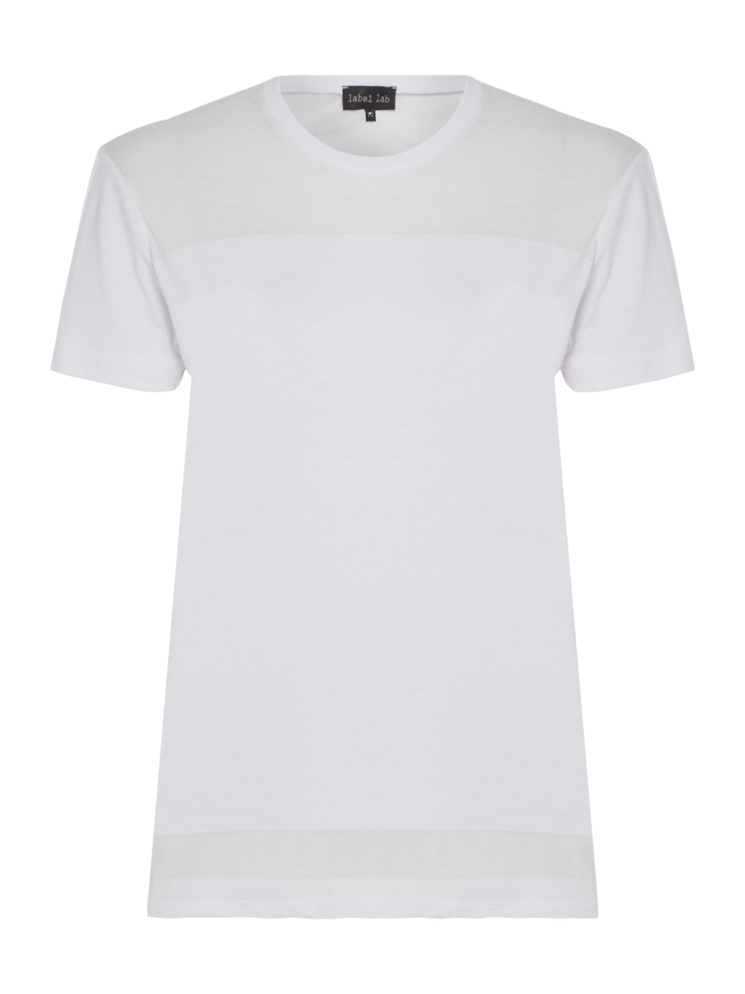 Label Lab Burnout Stripe Tee, White