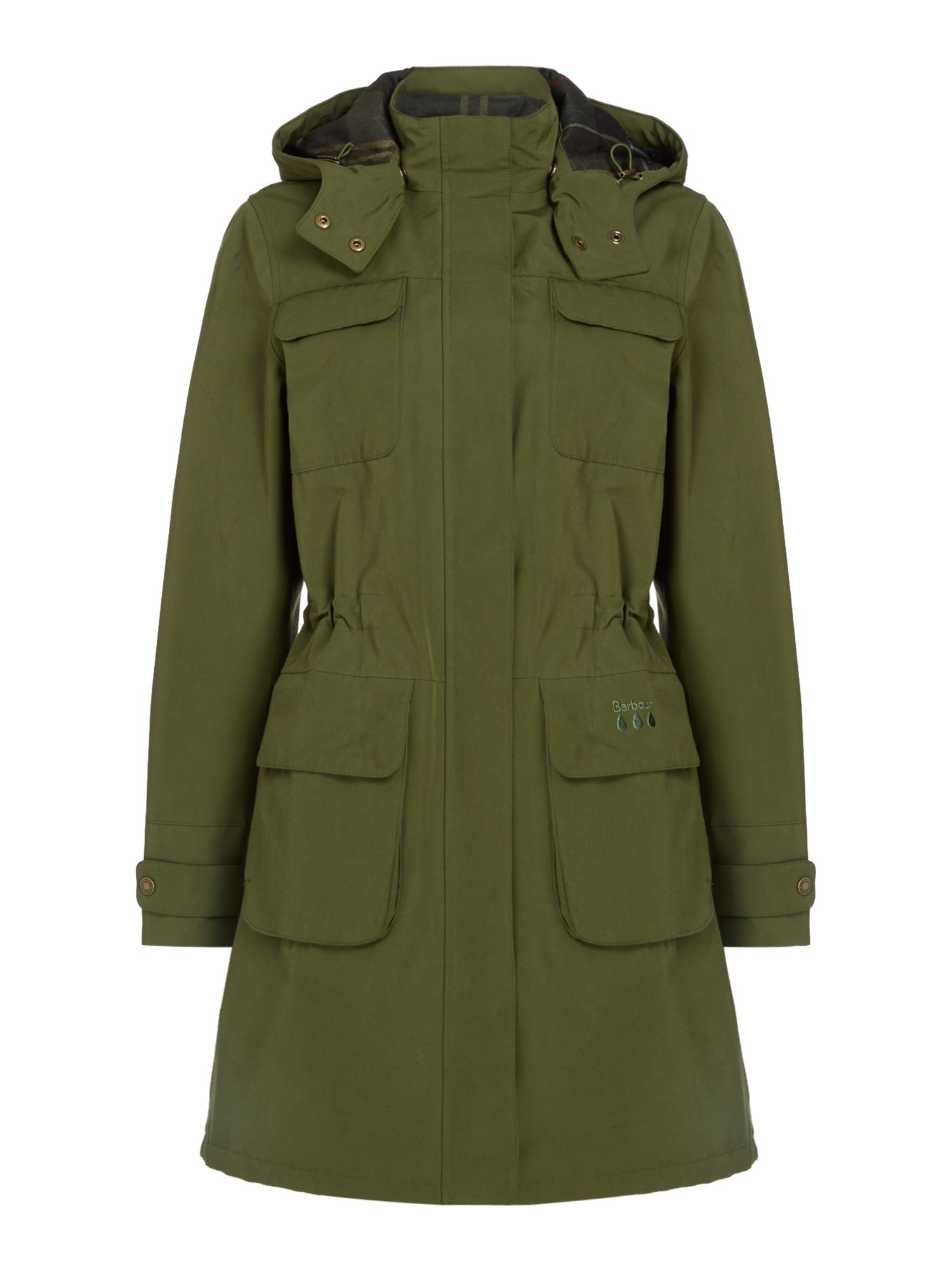 Barbour Velum Hooded Jacket, Green