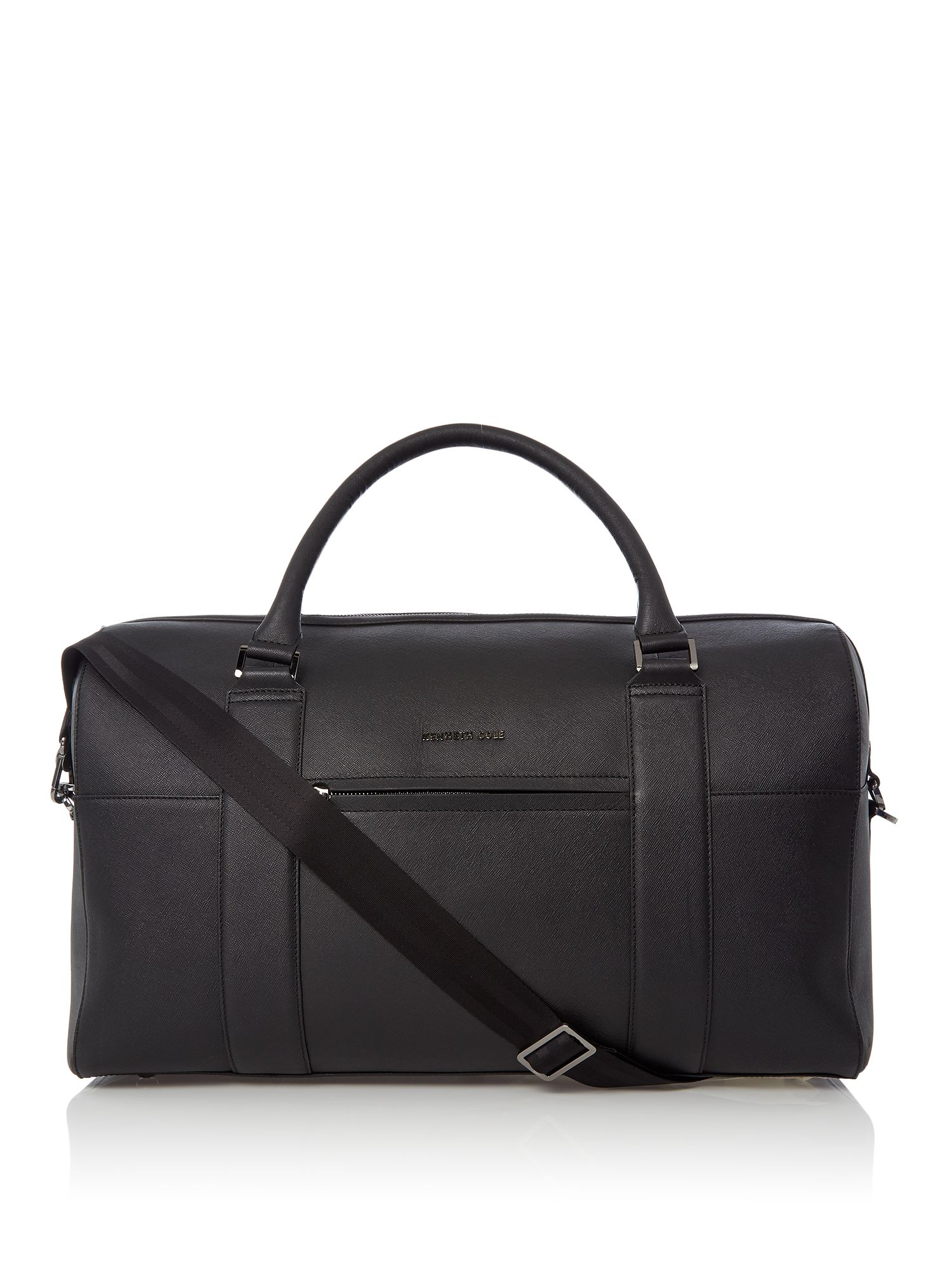 Kenneth Cole Saffiano Leather Holdall, Black