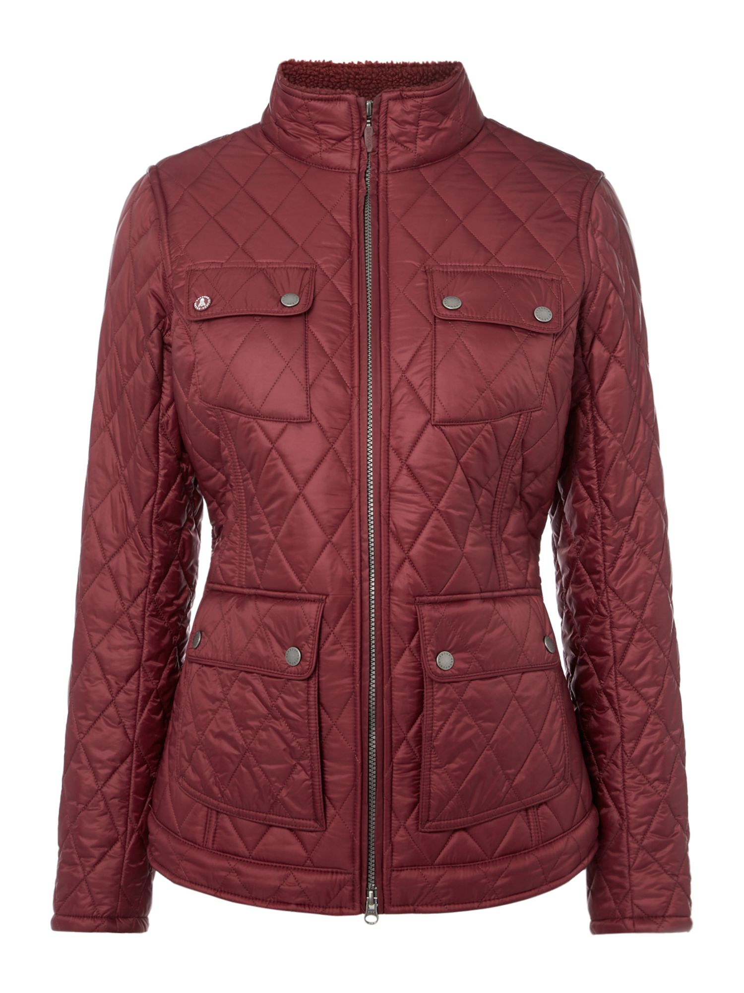 Barbour Filey Quilted Jacket, Wine