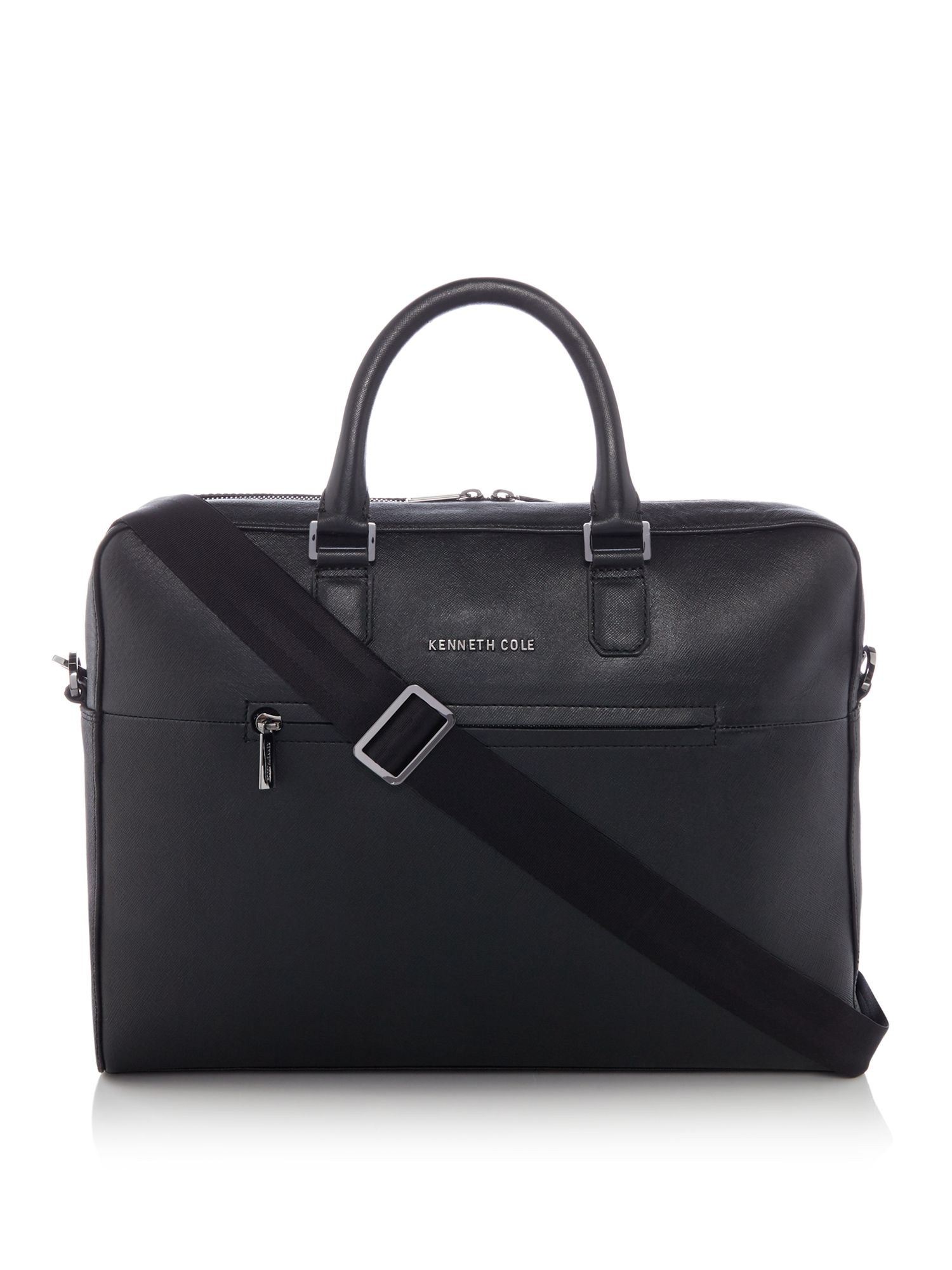 Kenneth Cole Saffiano Leather Laptop Bag, Black