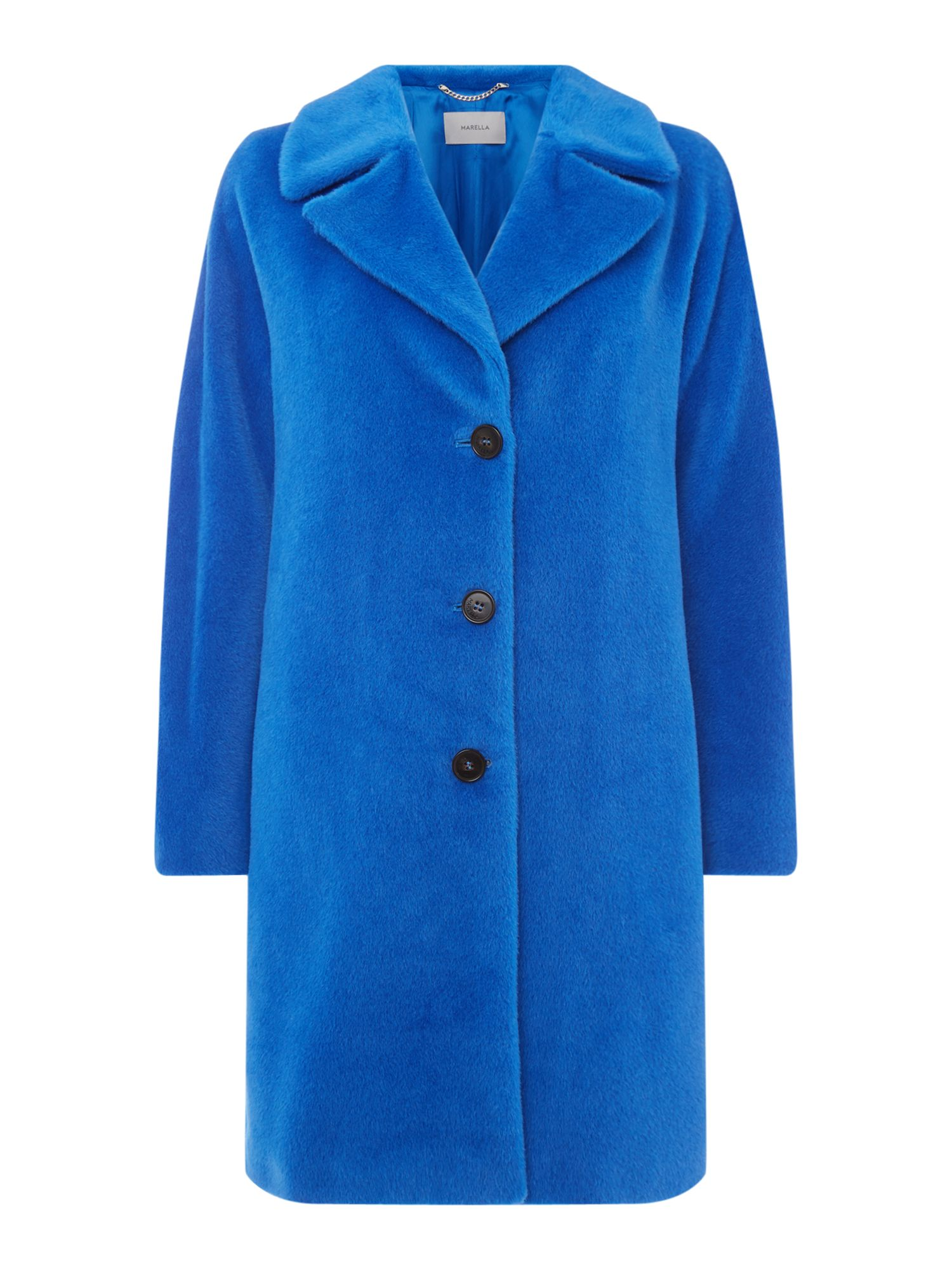 Marella Kaki alpaca wool coat, Blue