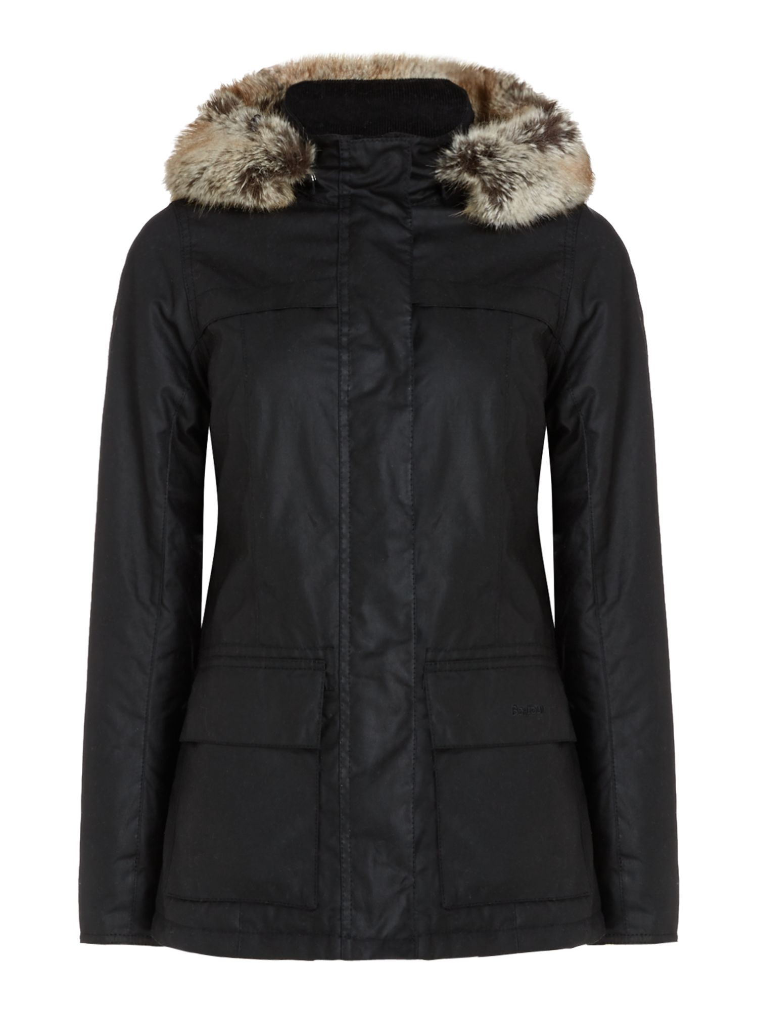Barbour Ellen Wax Jacket, Black