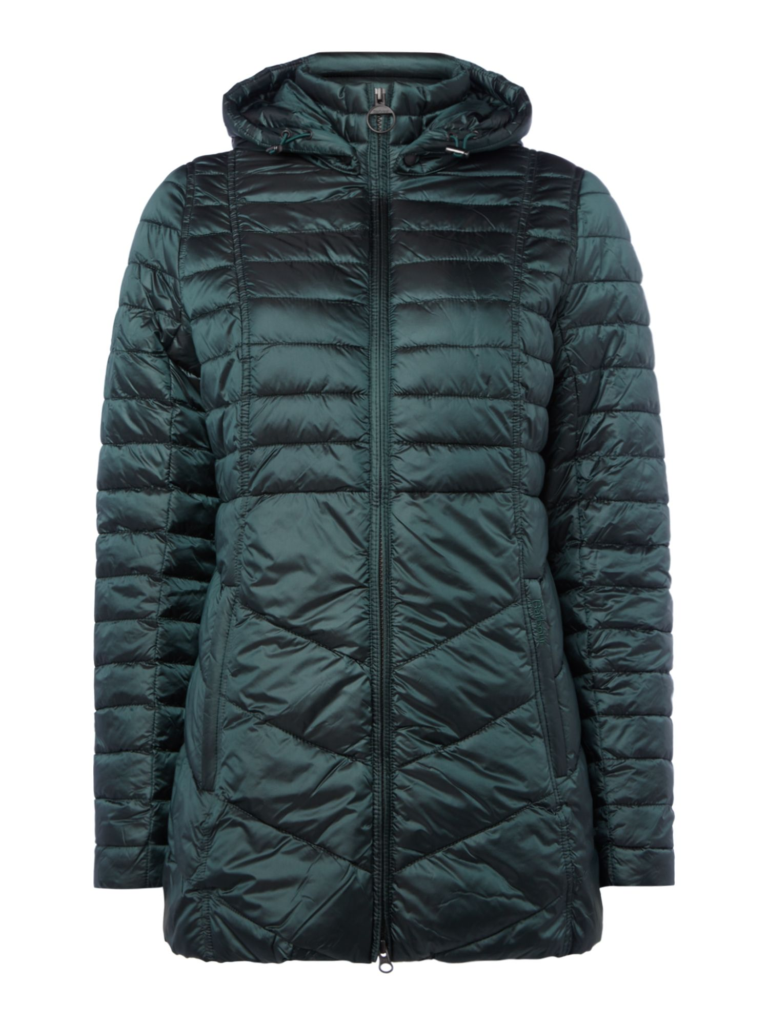 Barbour Lint Quilted Coat, Emerald