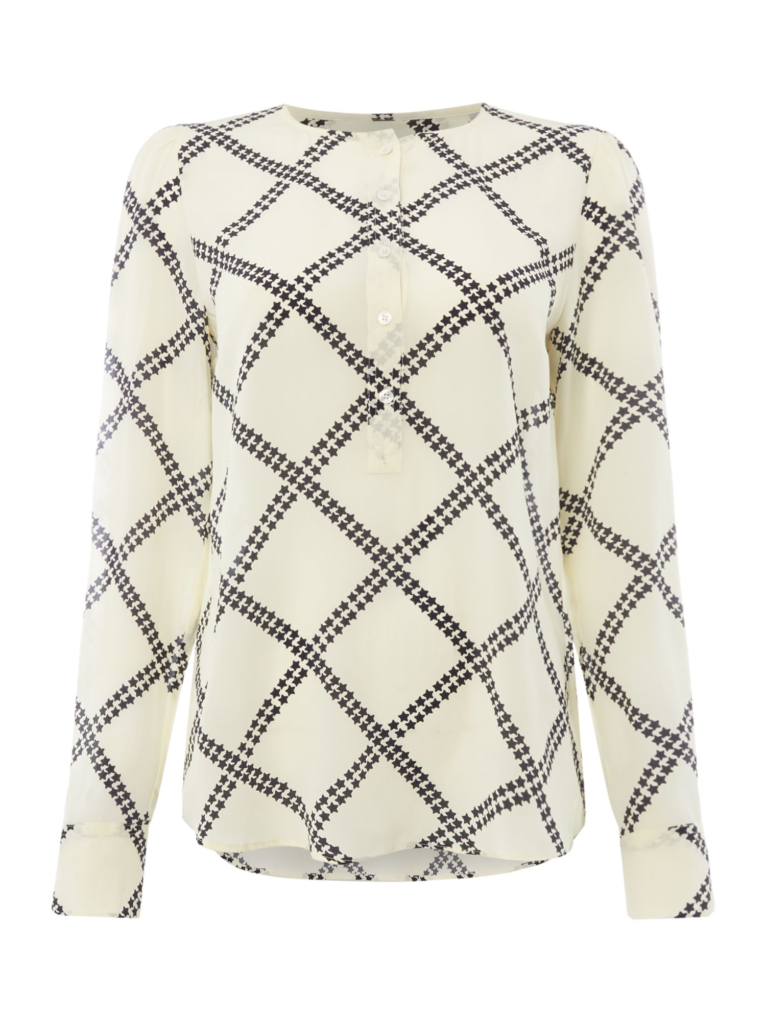 Marella Salato star check blouse, White