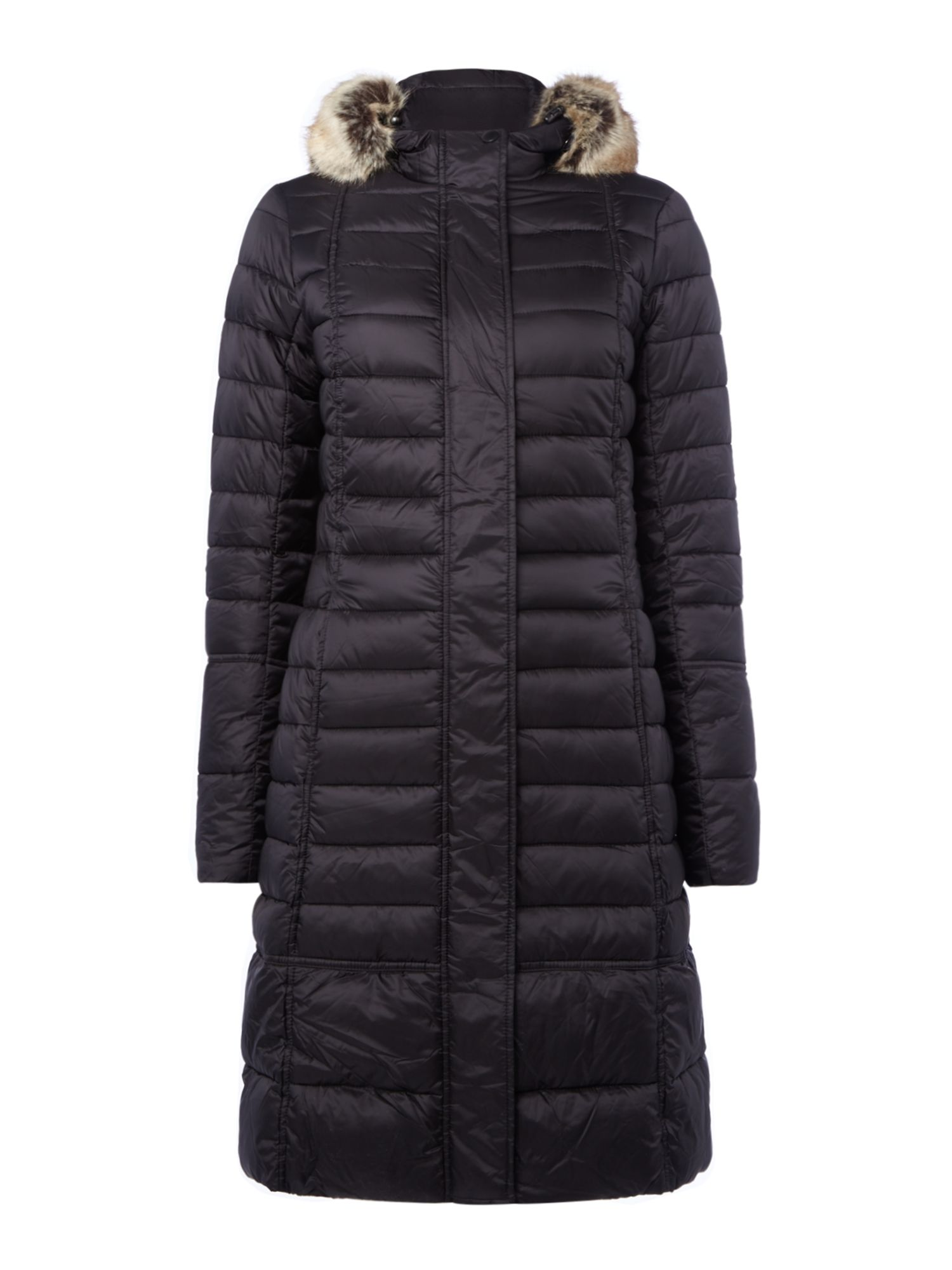 Barbour Fortrose Long Quilted Coat, Black