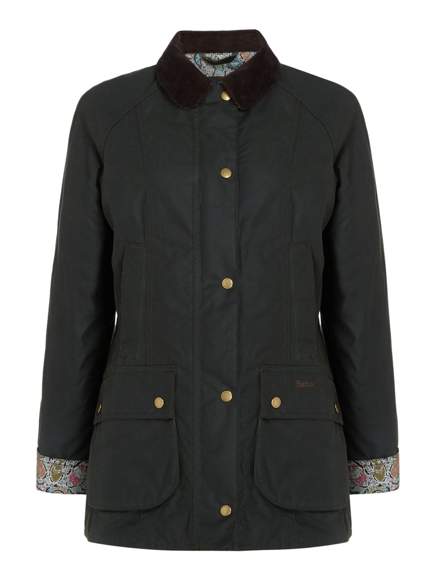 Barbour Abbey Wax Jacket, Sage
