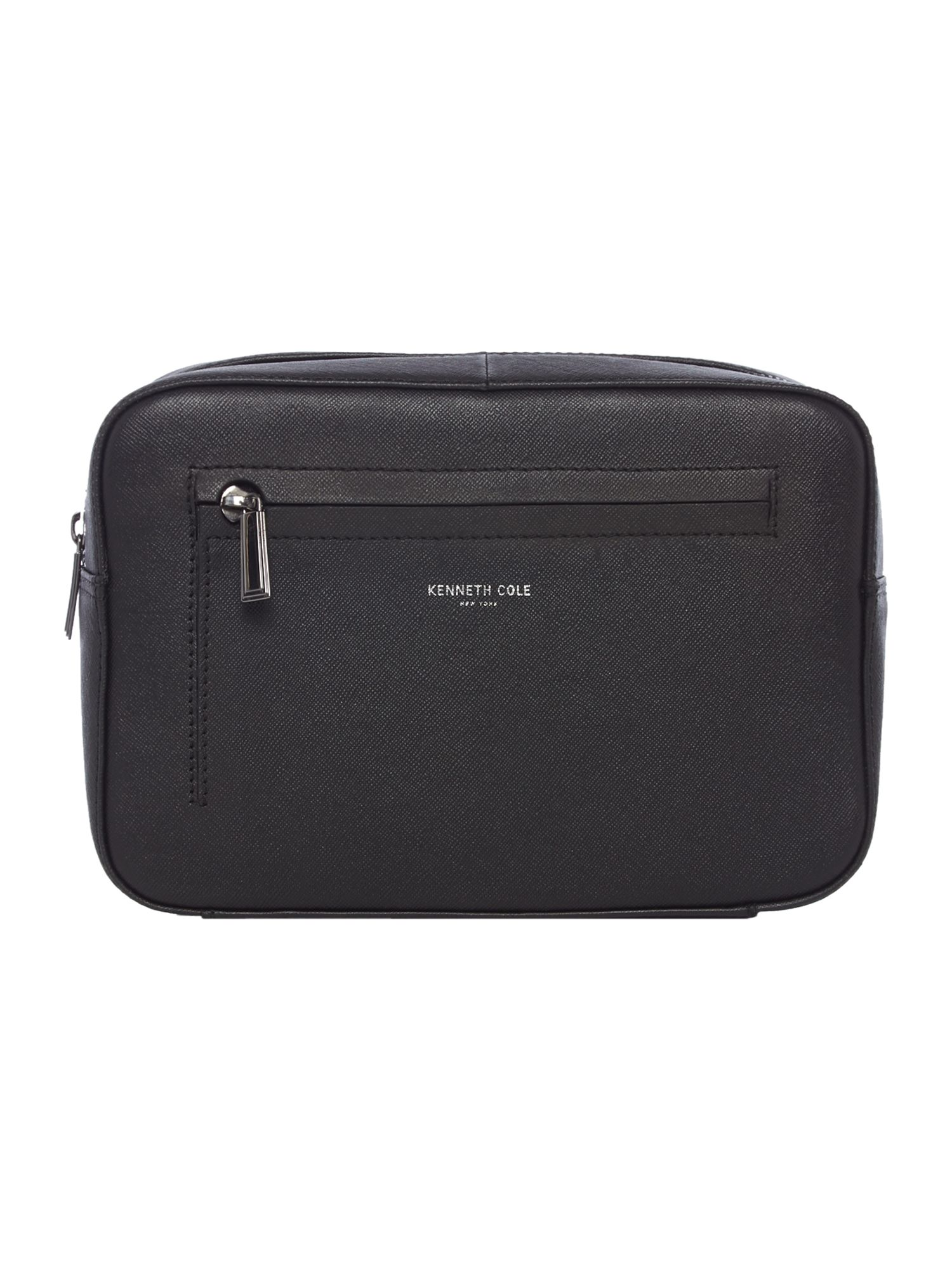 Kenneth Cole Saffiano Boxy Washbag, Black