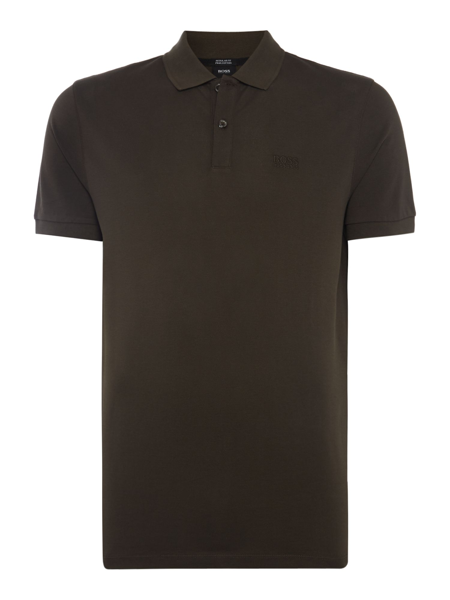 Men's Hugo Boss Pallas Regular Fit Short Sleeve Logo Polo, Olive
