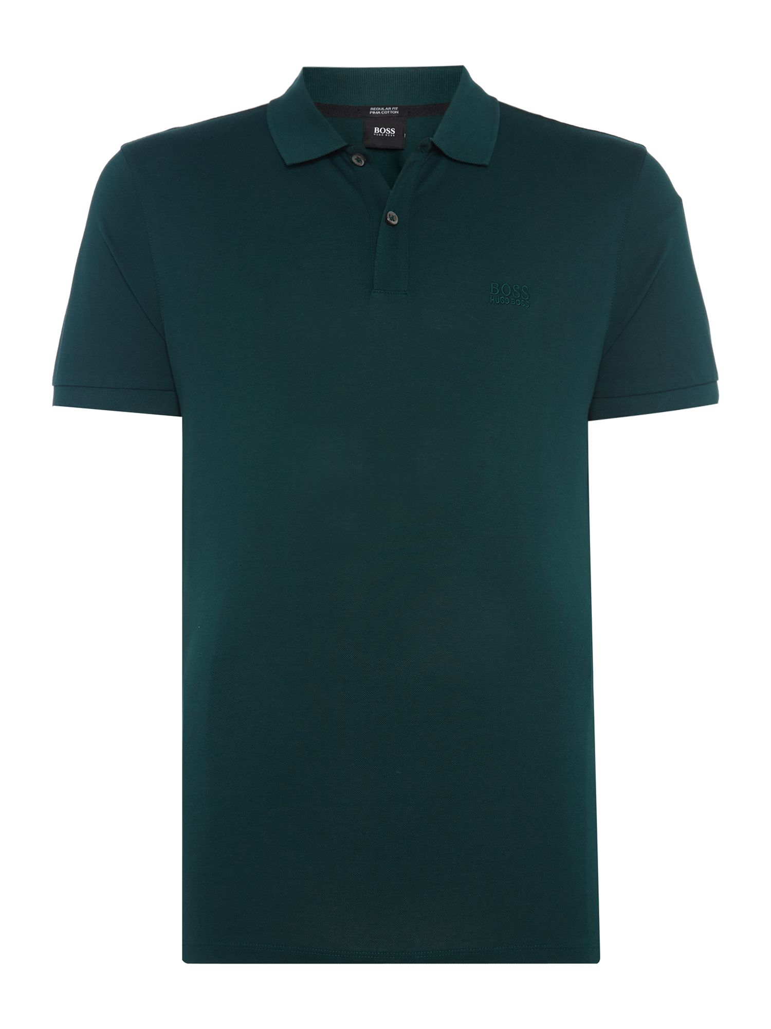 Men's Hugo Boss Pallas Regular Fit Short Sleeve Logo Polo, Green