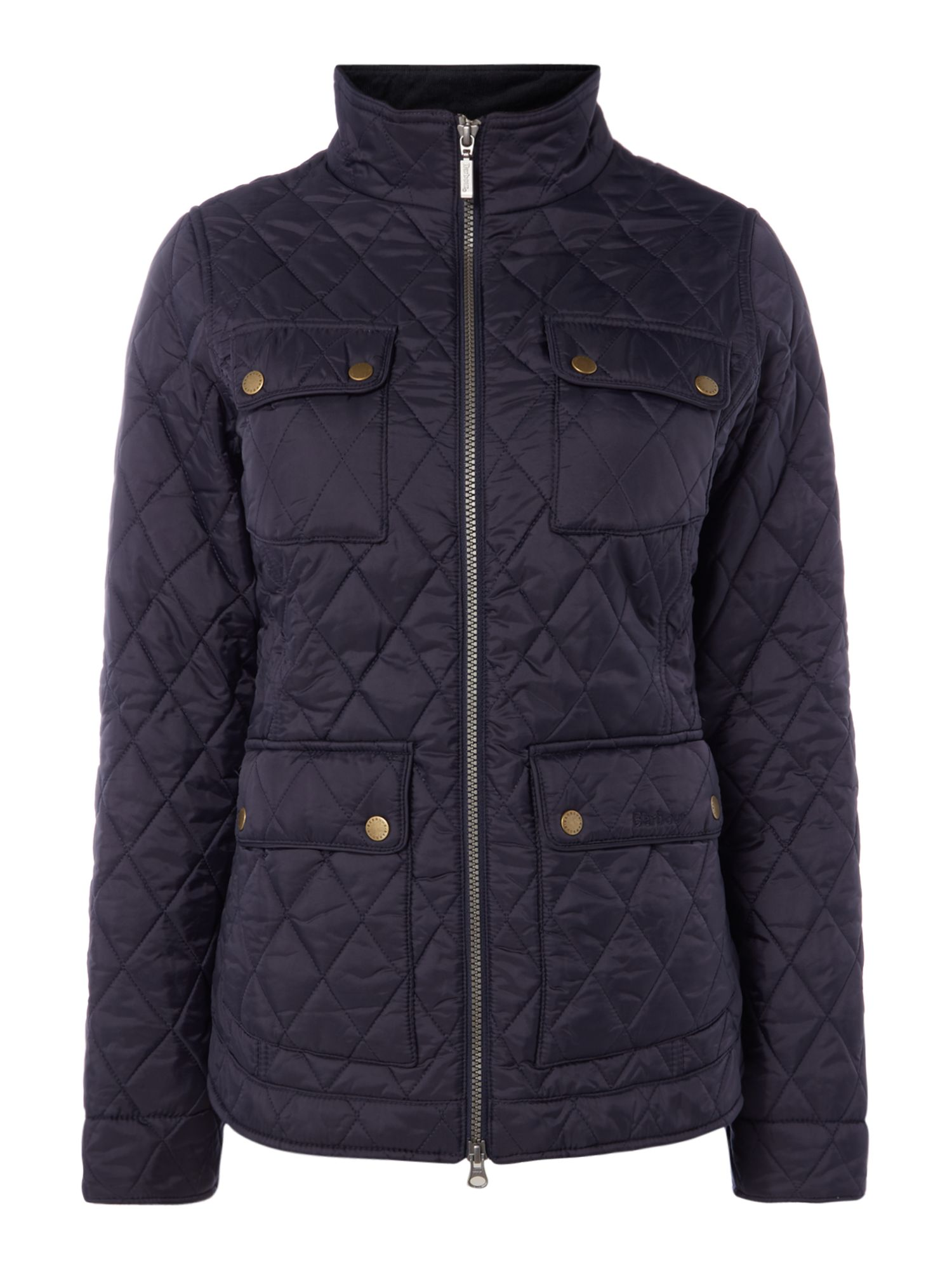 Barbour Abbey Quilted Jacket With Liberty Print Lining, Blue